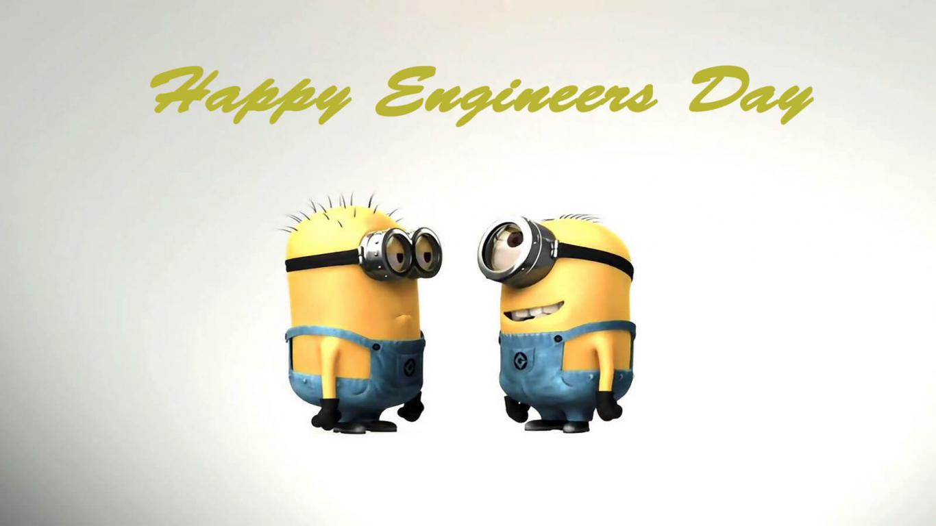 Happy Engineers Day Greetings Wishes Cartoon Minions Hd Wallpaper