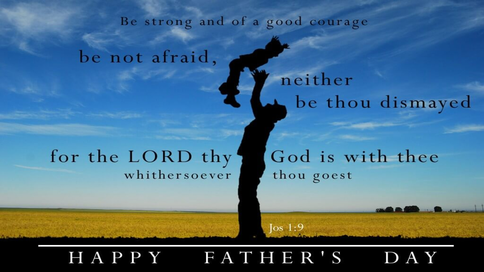 Happy Fathers Day Hd Bible Verse Wallpaper Jos 1 9