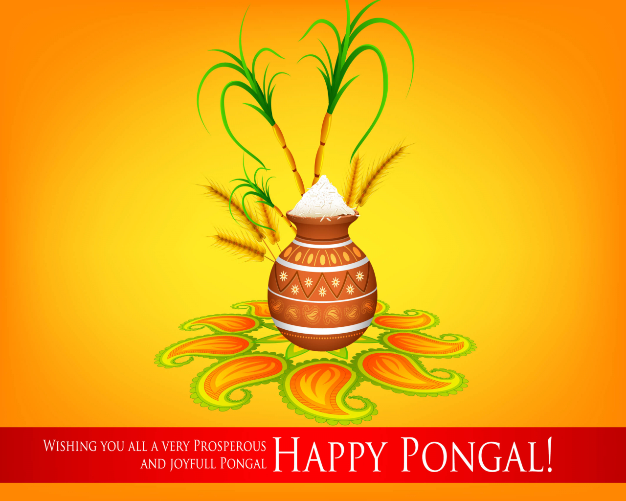 Happy Pongal Greetings Latest New Hd Wallpaper