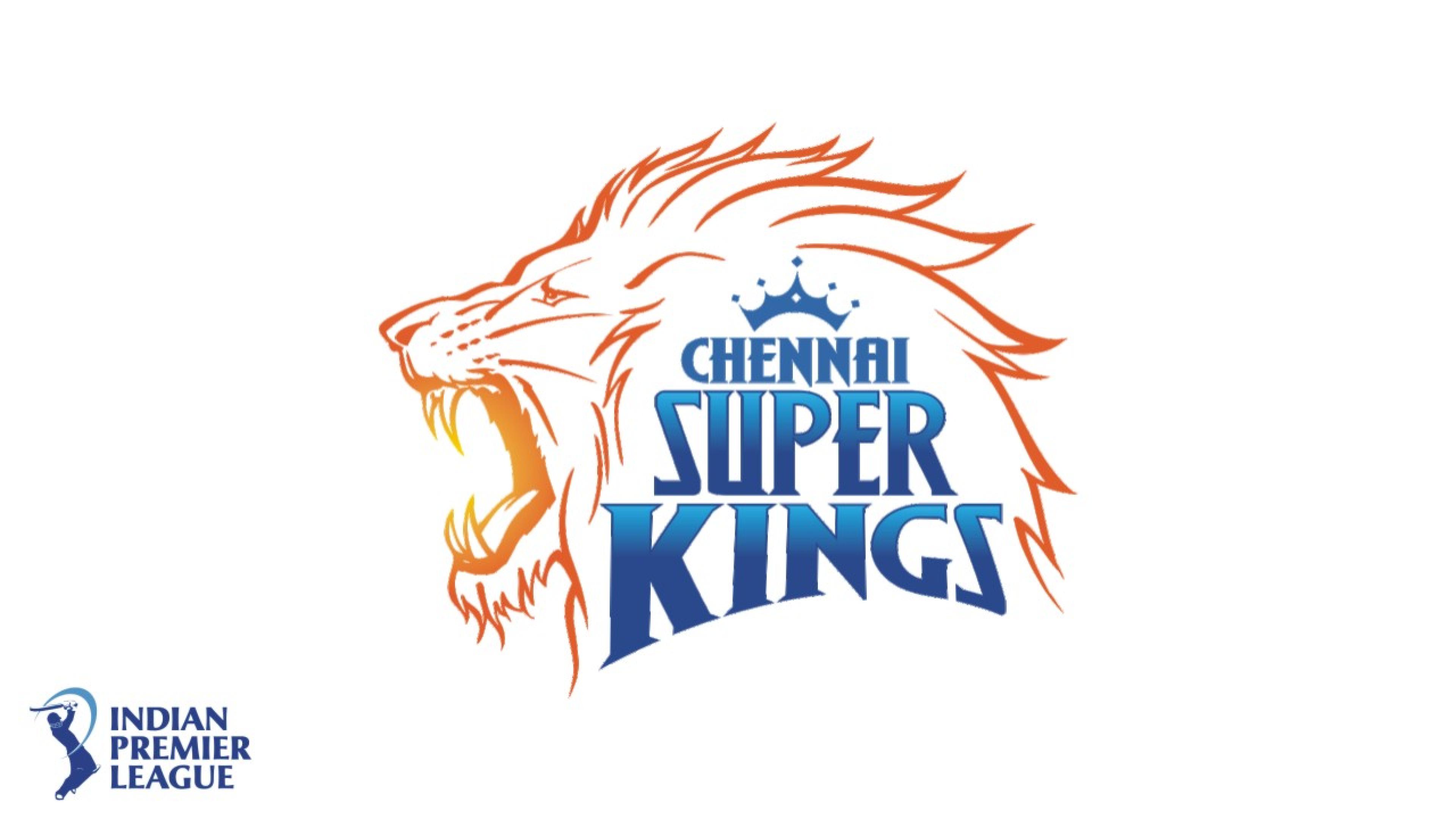 ipl chennai super kings csk team logo white background hd wallpaper