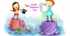 happy childrens day wishes animated cartoon kids hd wallpaper