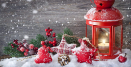 happy christmas eve jesus tree gifts snow berry lamp heart hd wallpaper