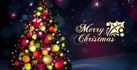 happy merry christmas wishes tree decorative celebration hd wallpaper