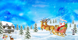 merry happy christmas santa claus rein deer snow man art hd wallpaper