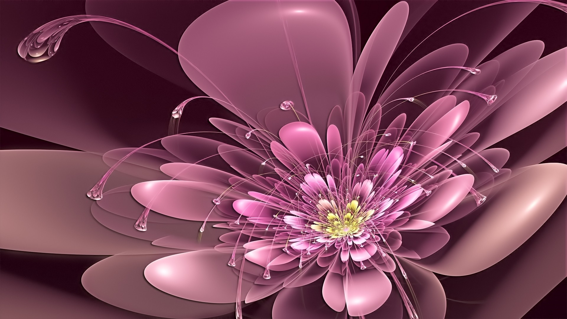 abstract flower free