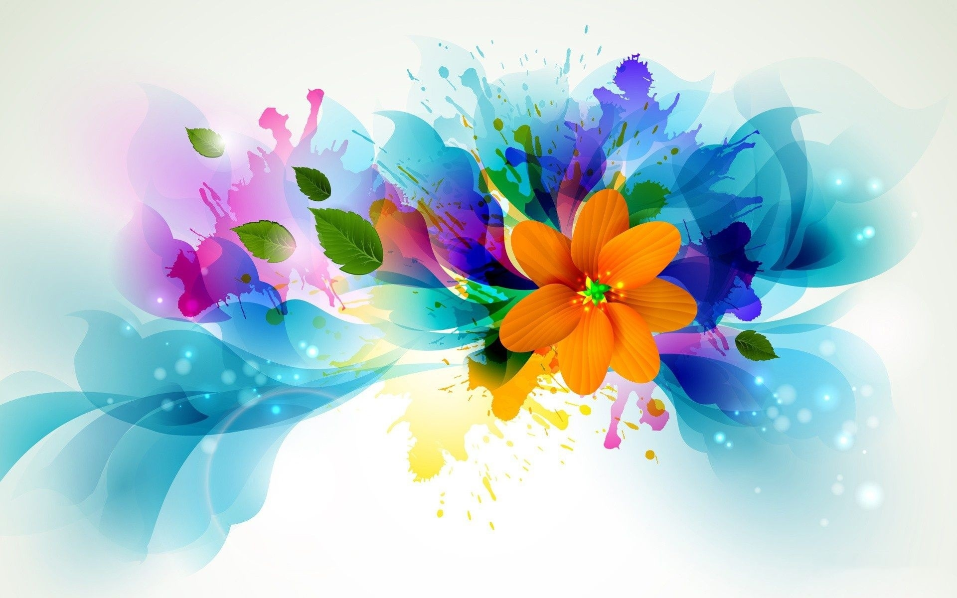 abstract flower hd background