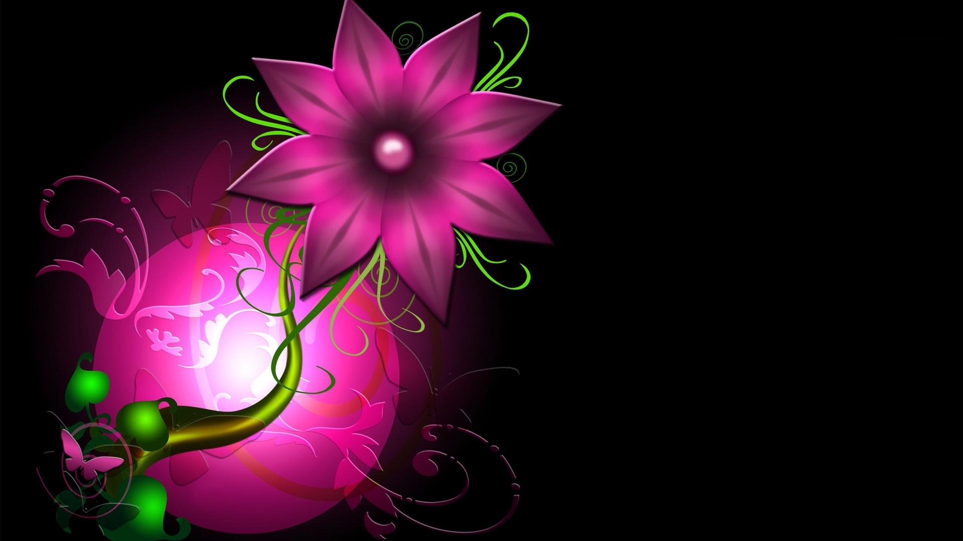abstract flower pc wallpapers