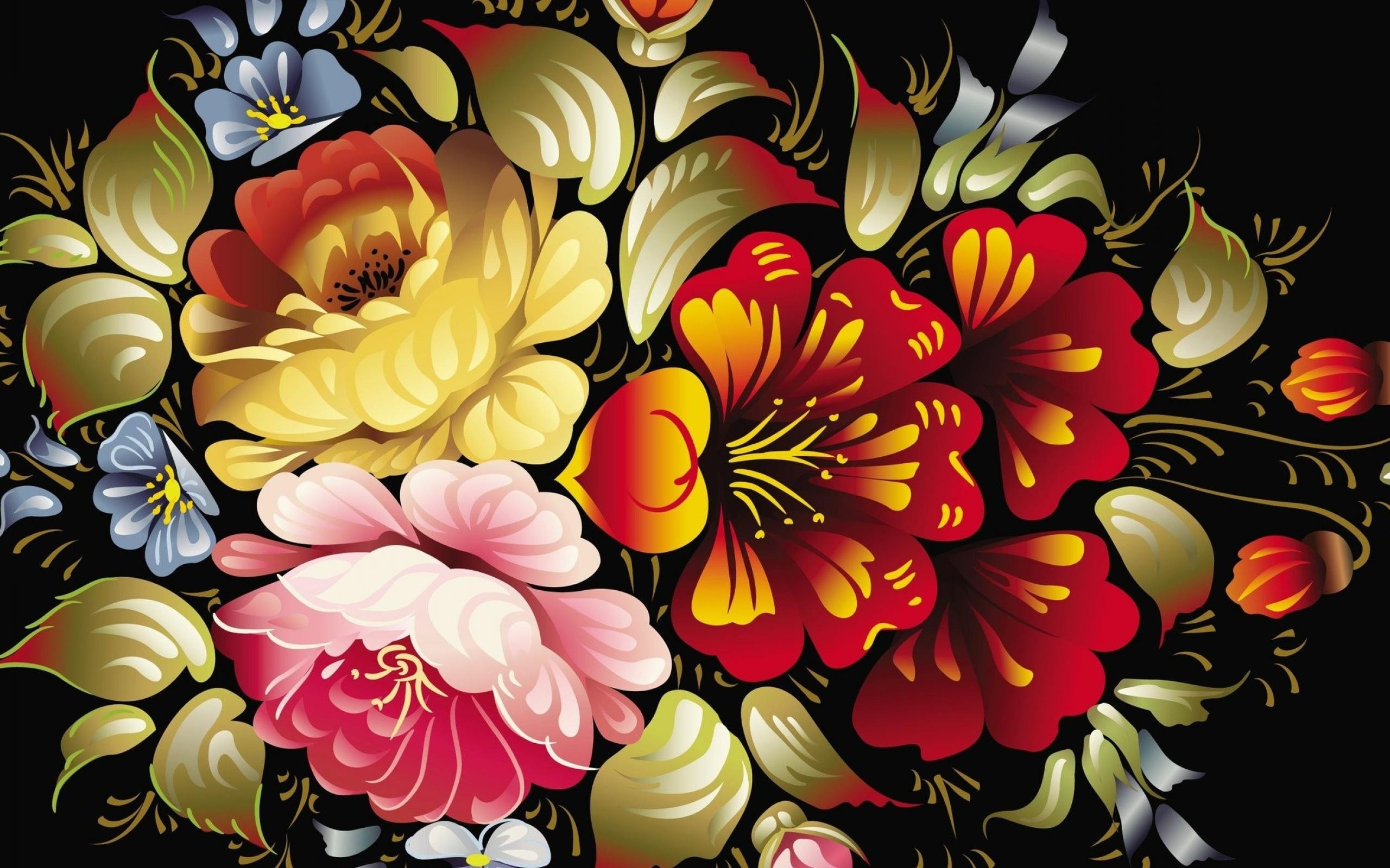 abstract flower wallpapers hd