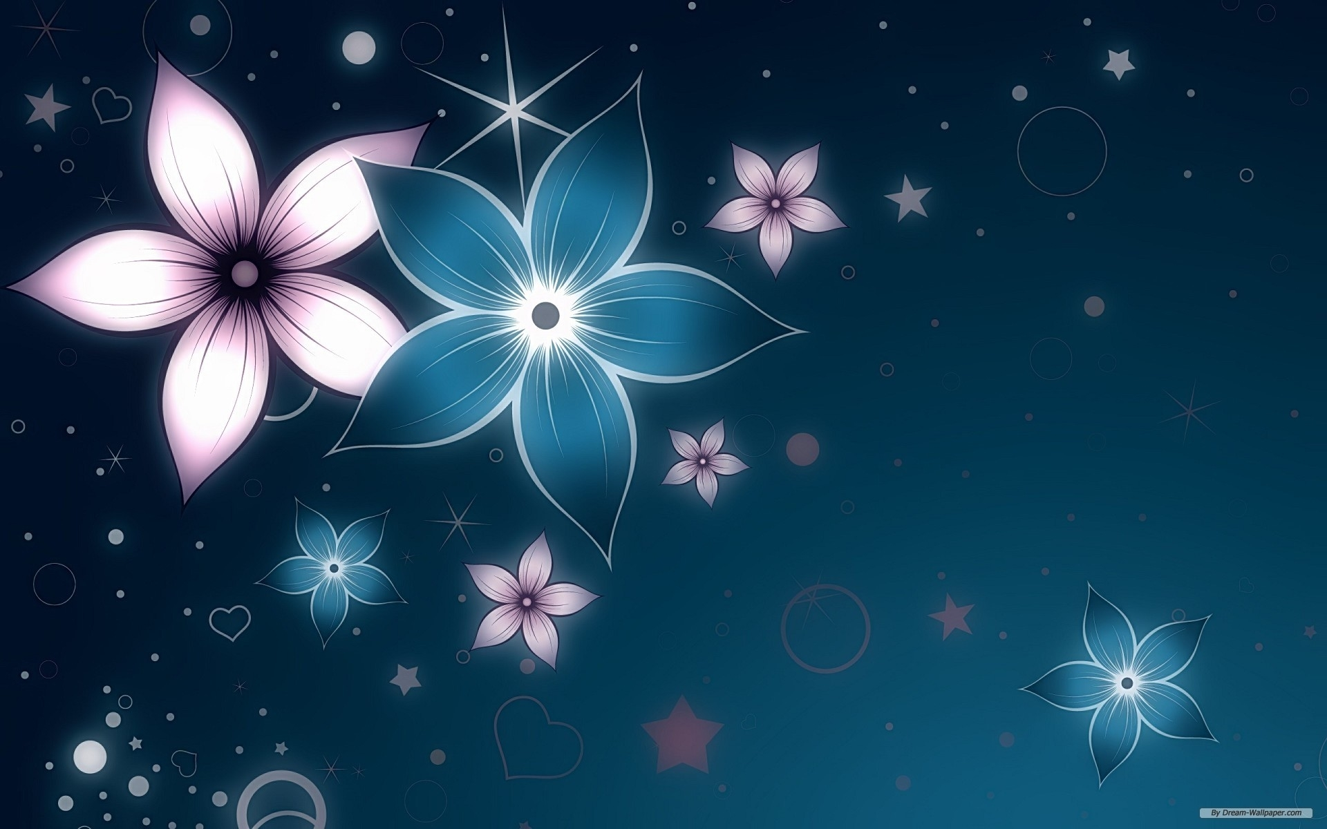 abstract flower widescreen