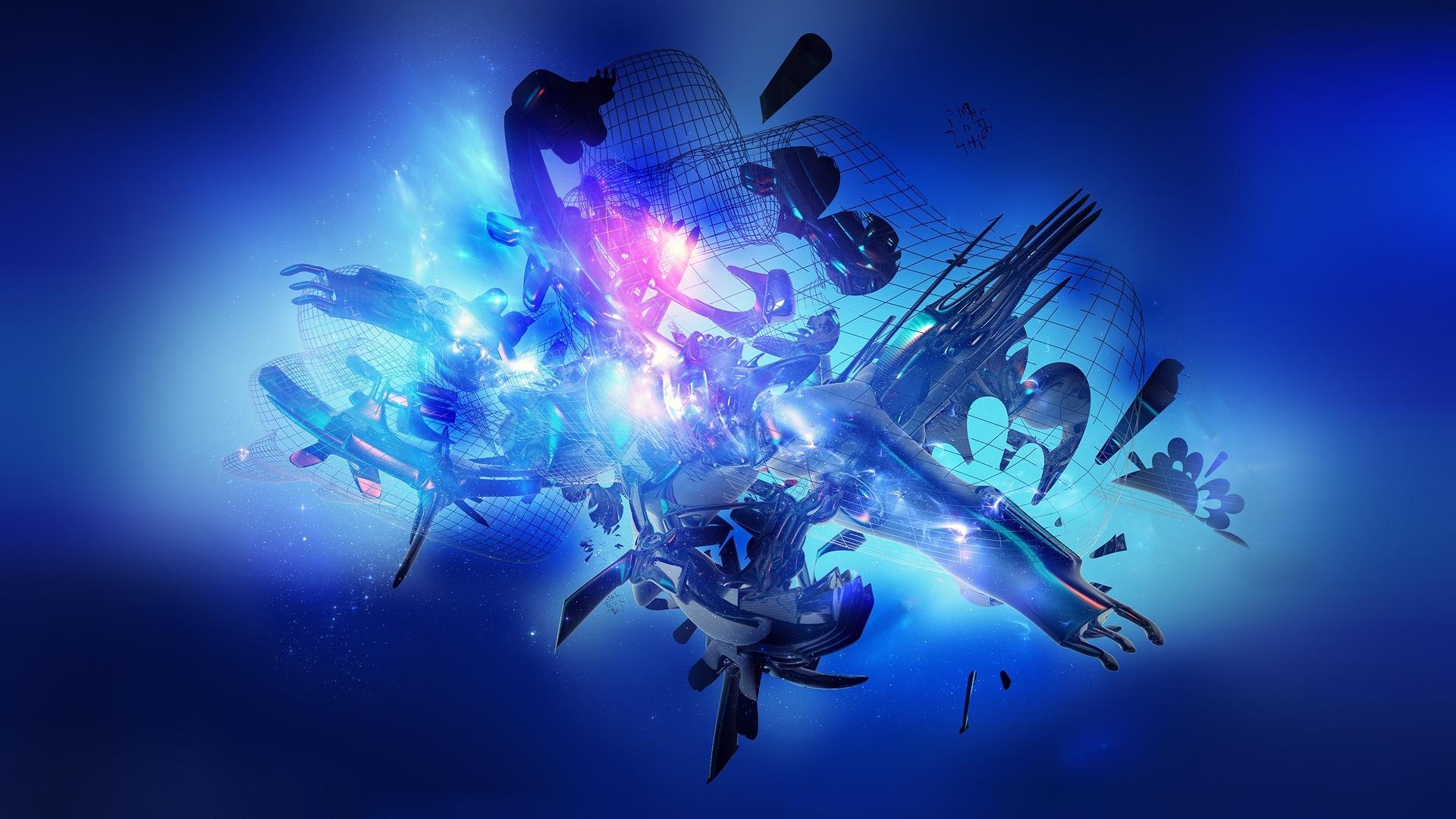 blue abstract hd pics