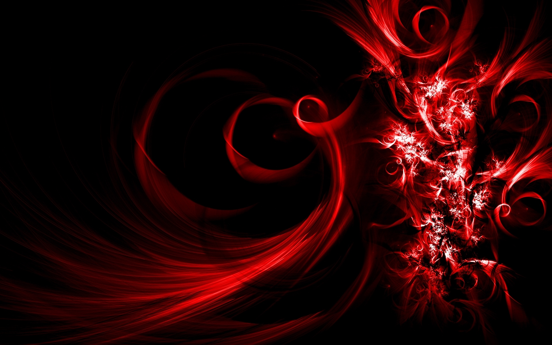 red abstract widescreen