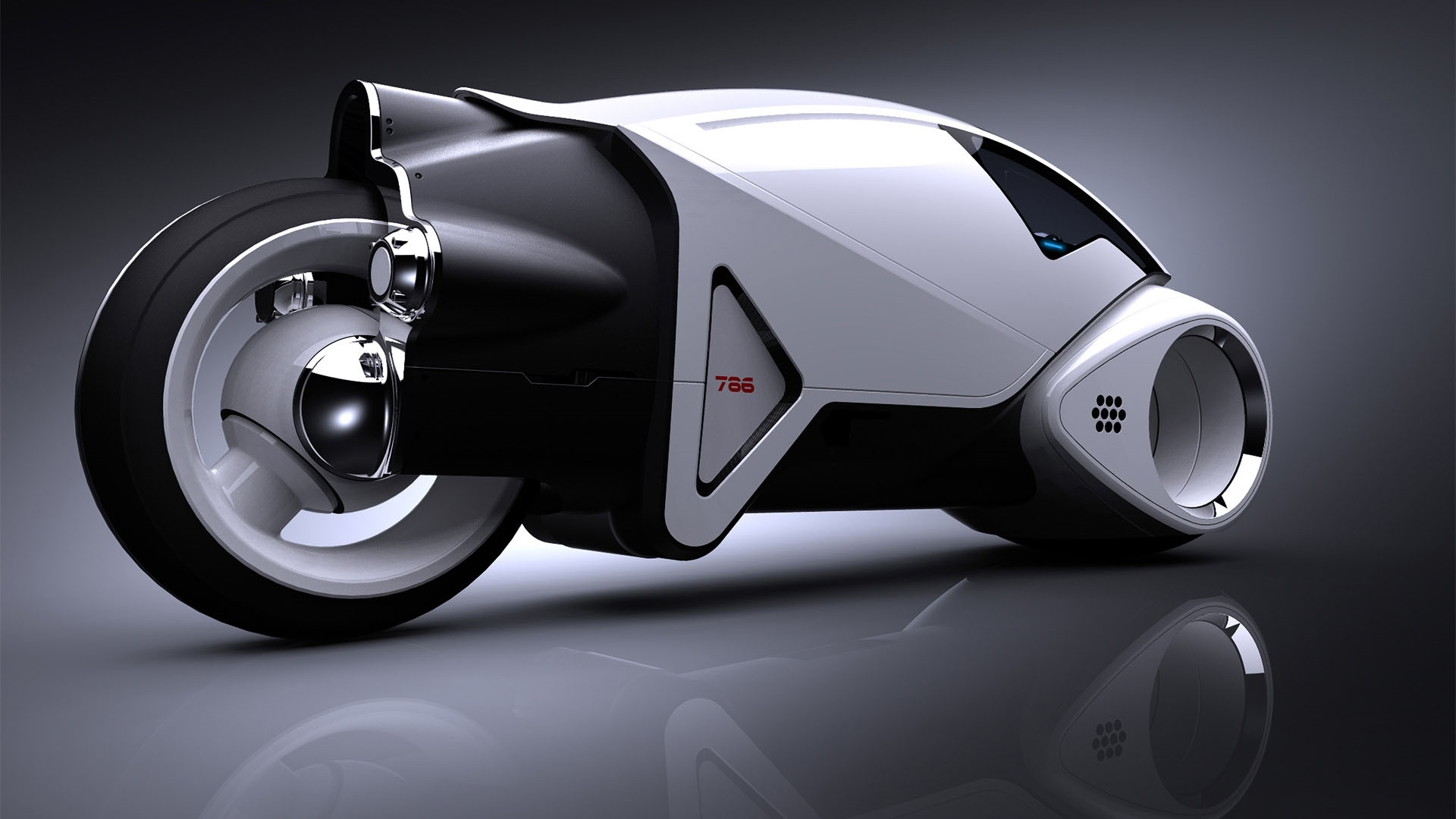 tron bike hd wallpaper