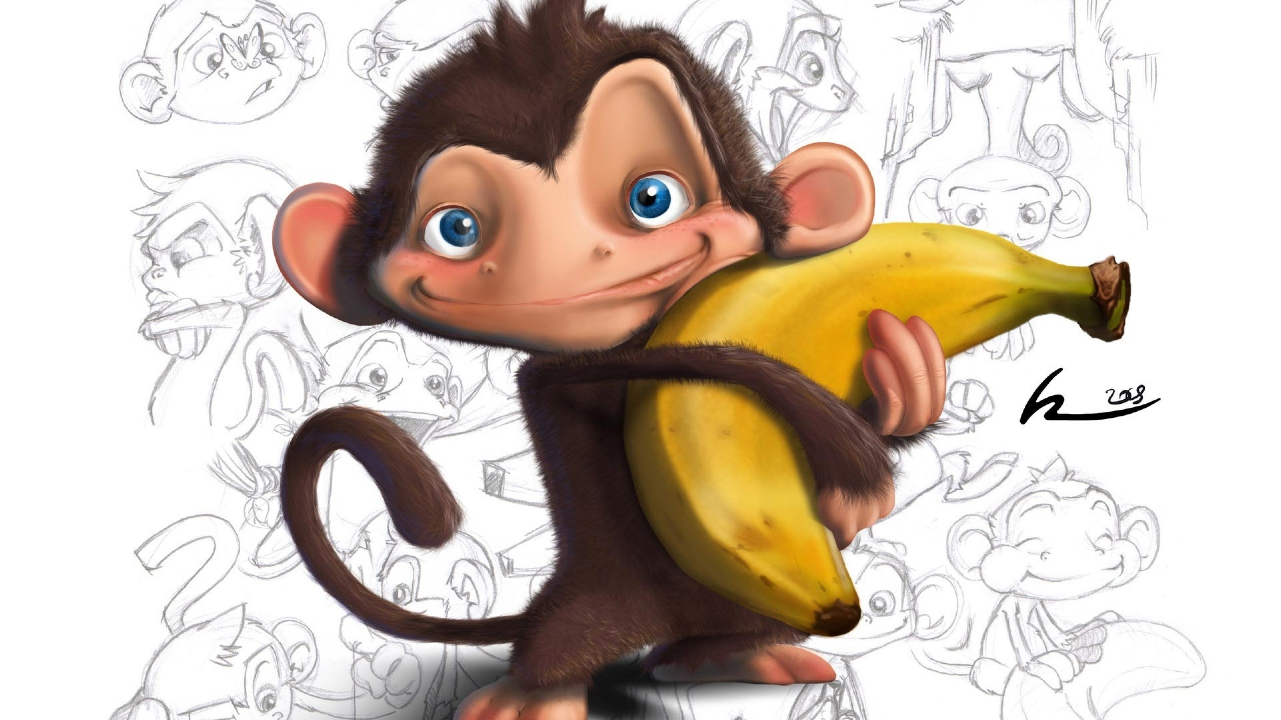 monkey hd wallpaper