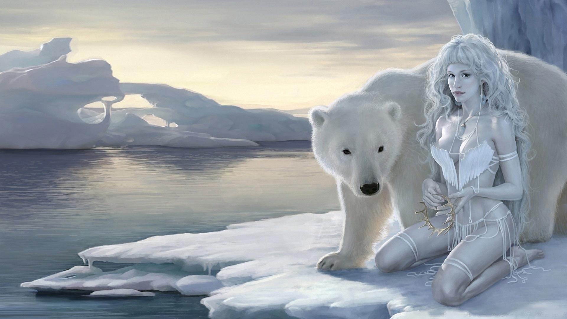 white bear hd pics