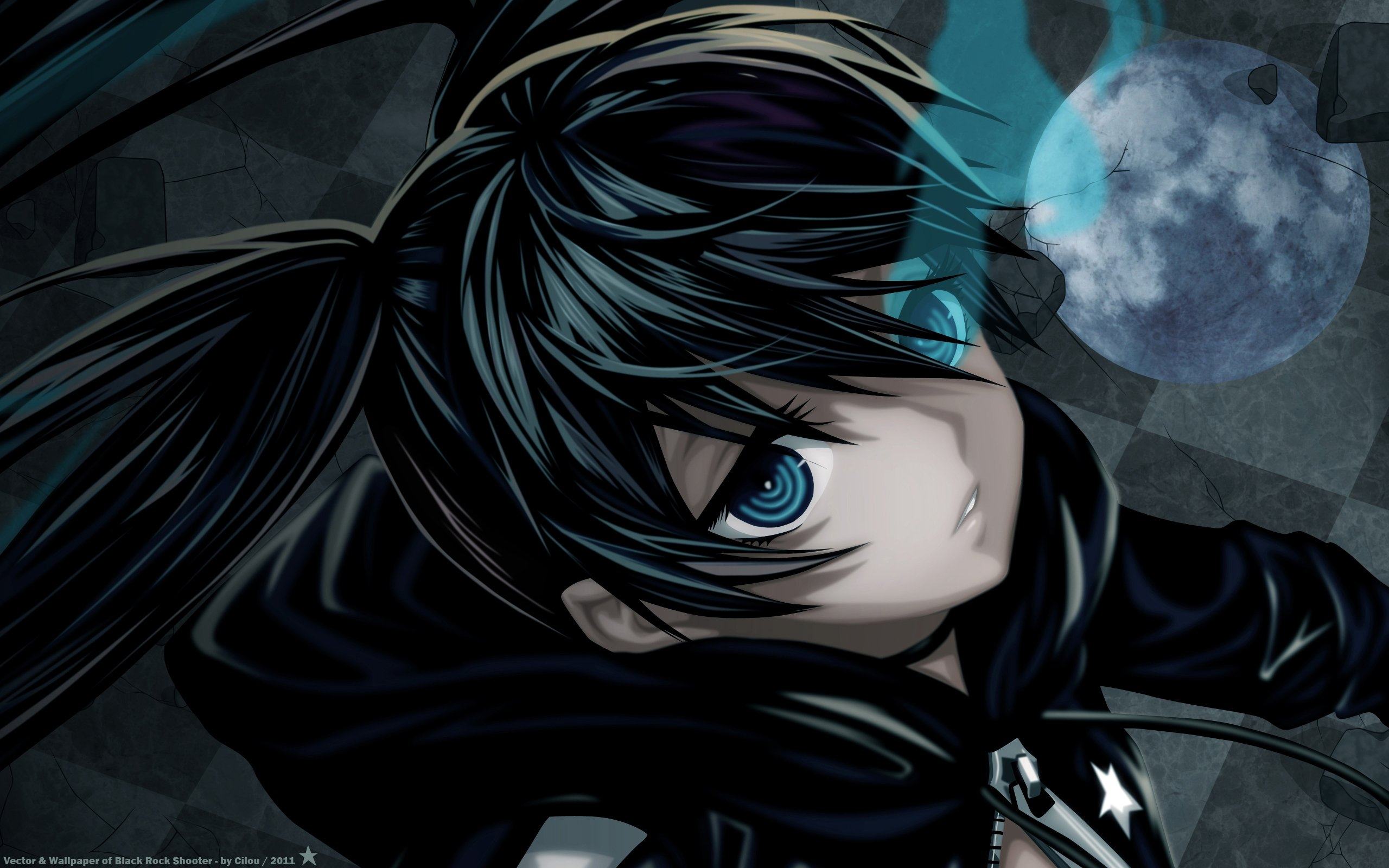 black rock shooter background
