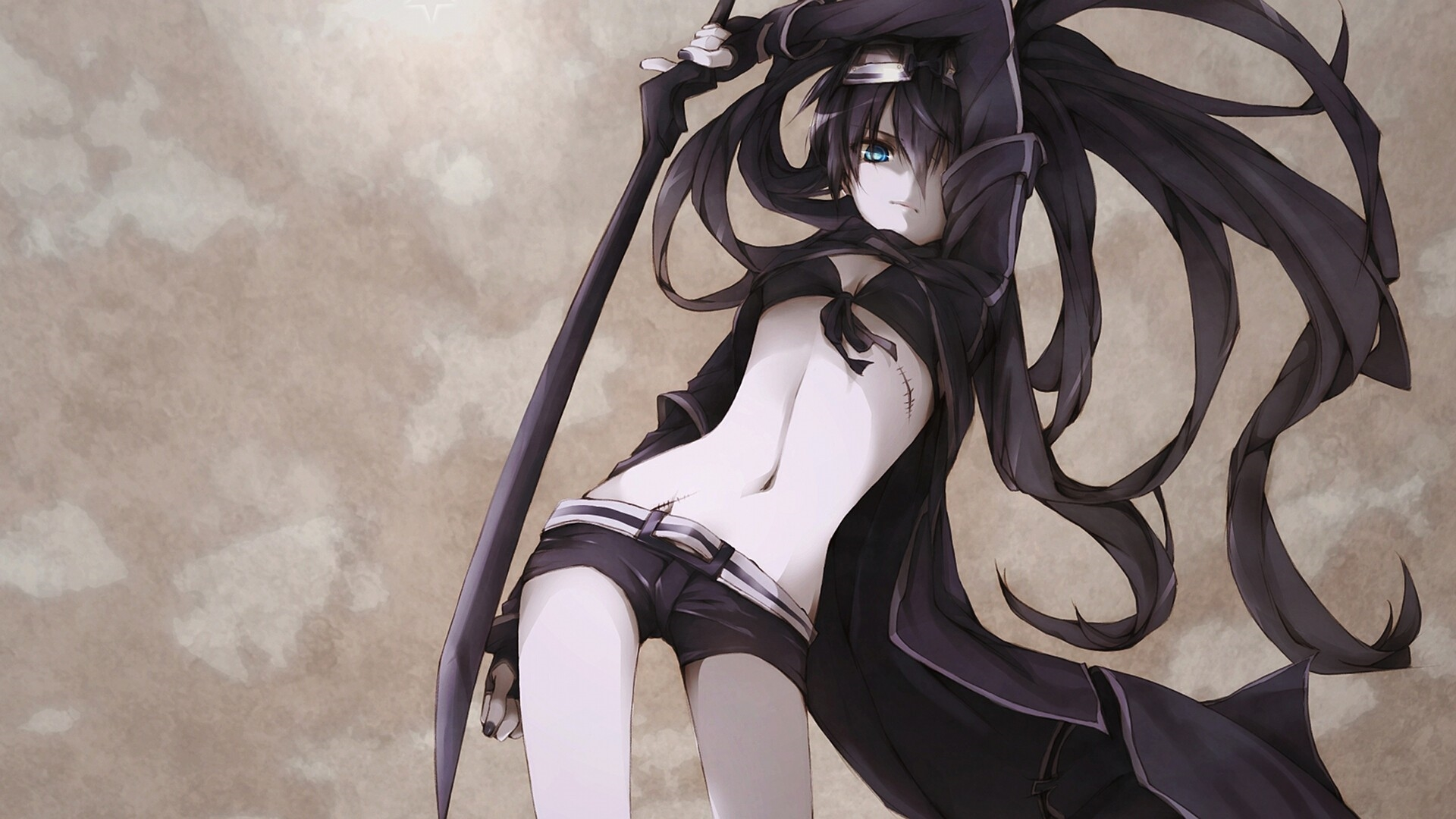 black rock shooter download wallpaper
