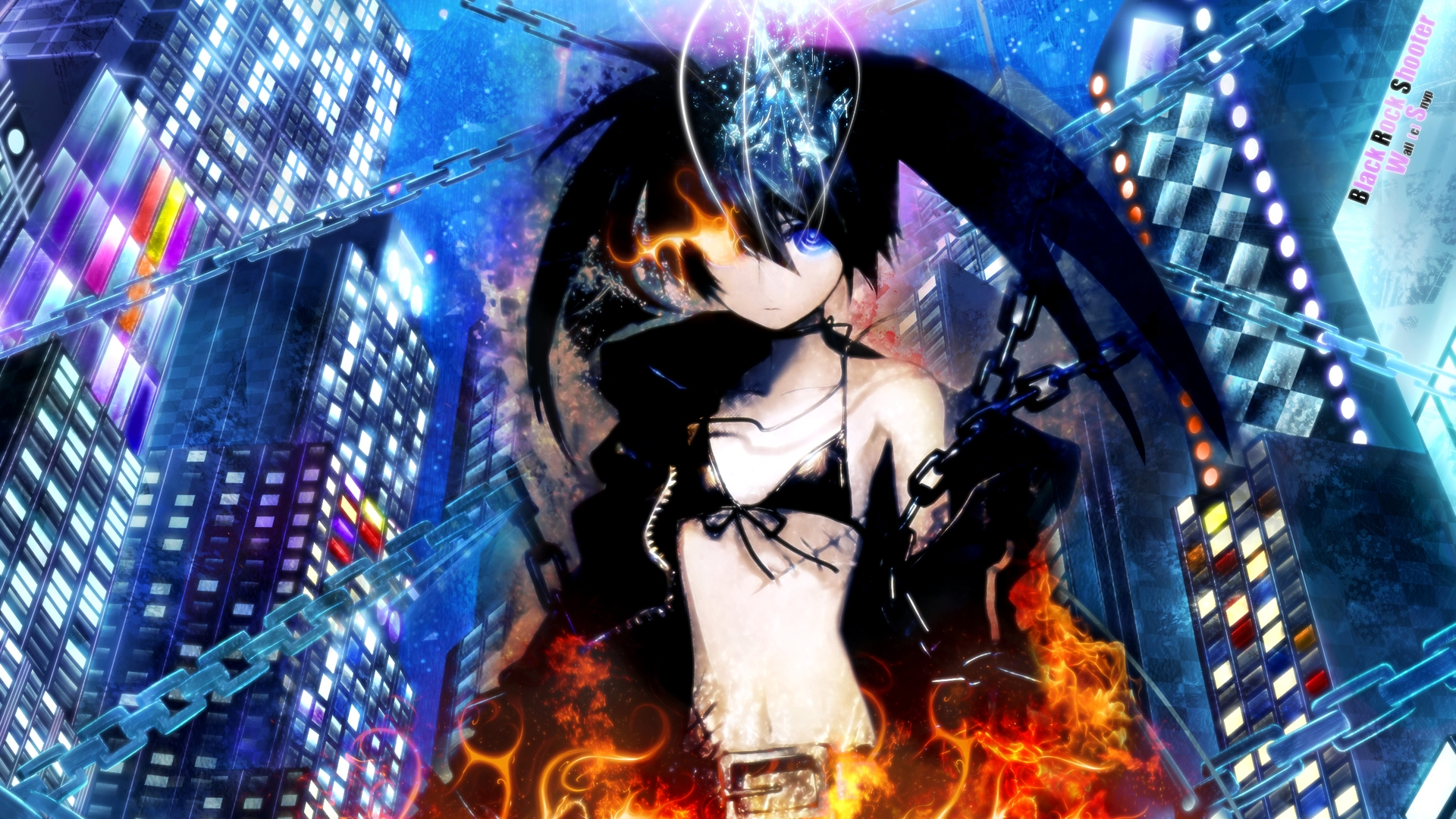 black rock shooter hd background