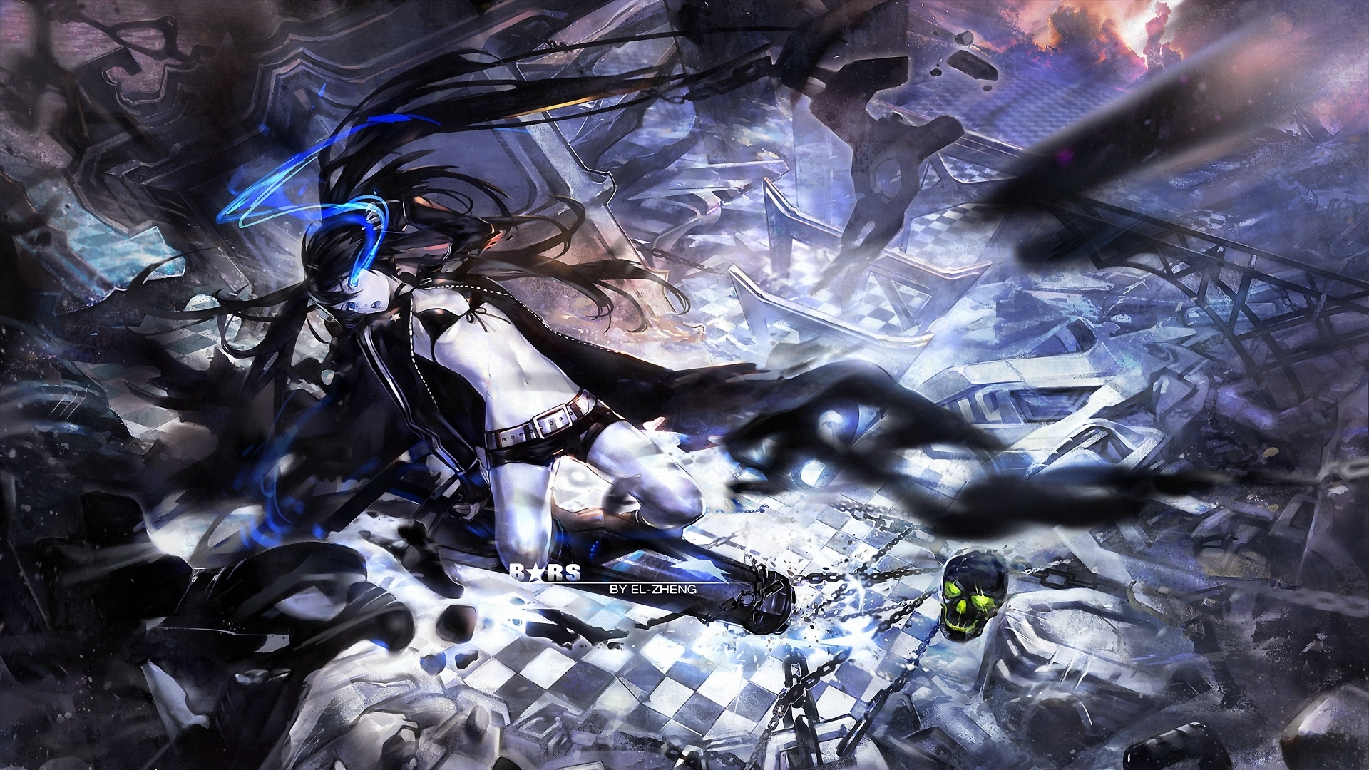 black rock shooter hd wallpaper