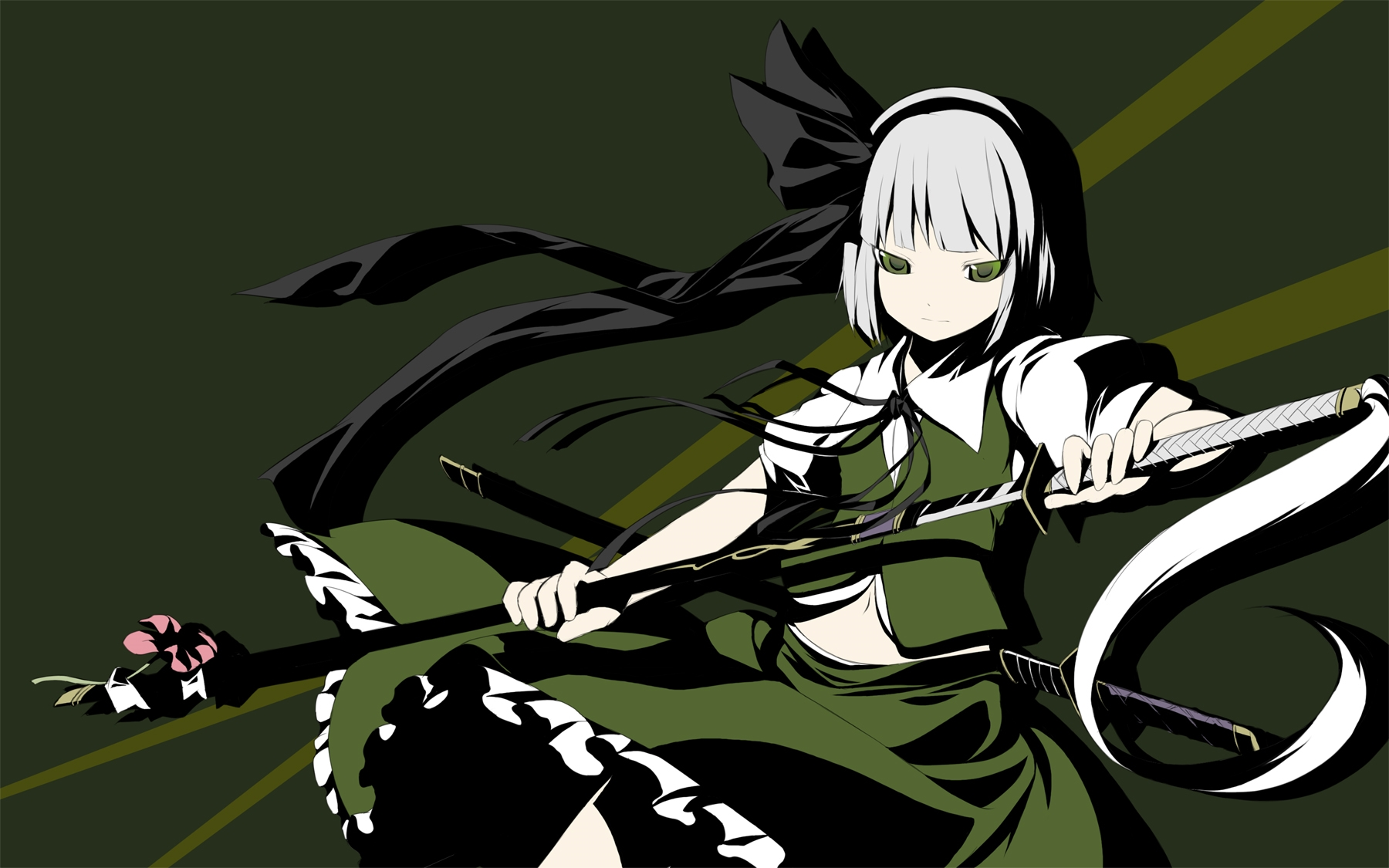 konpaku youmu desktopp wallpaper
