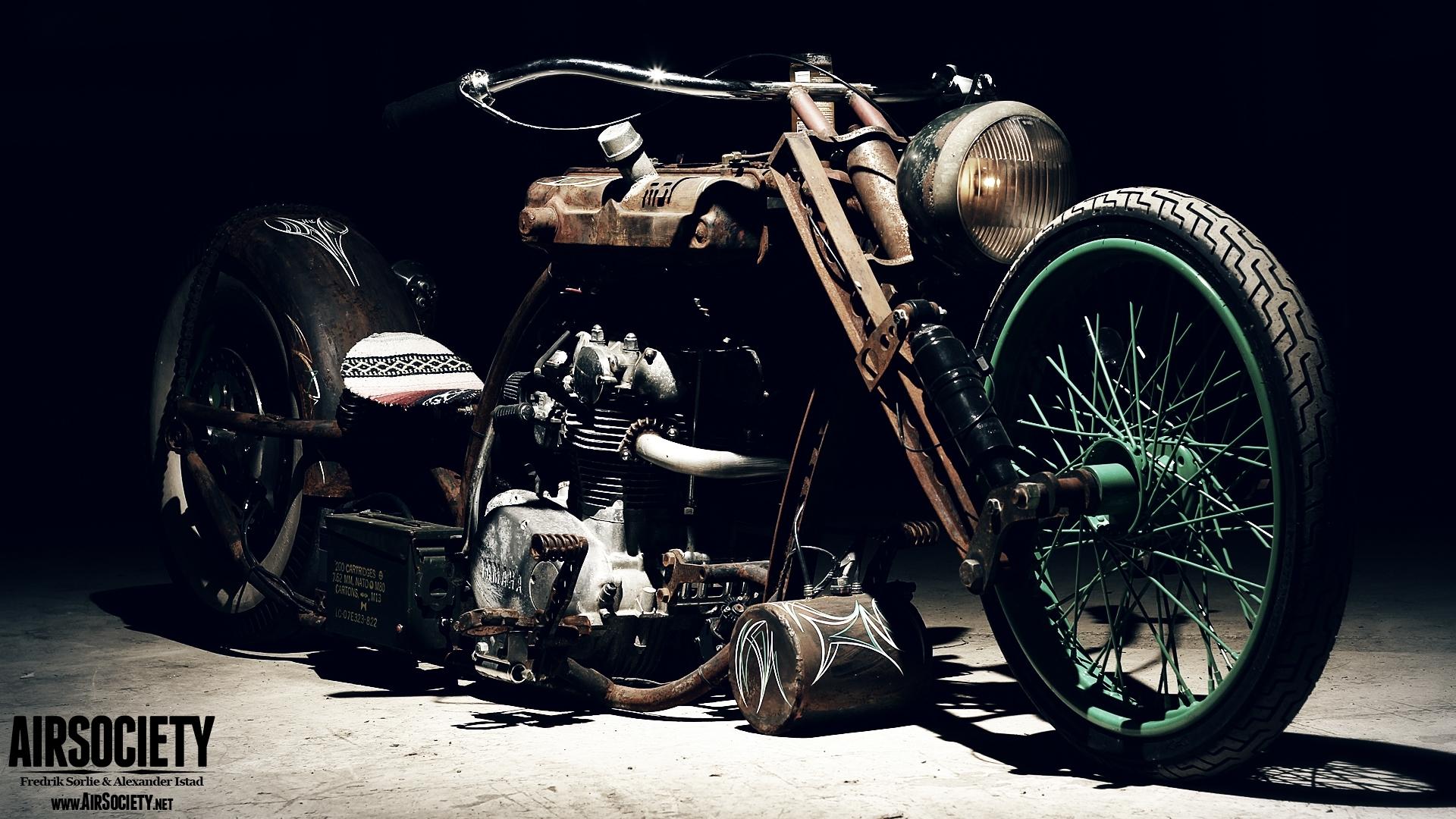 bobber motorcycle background
