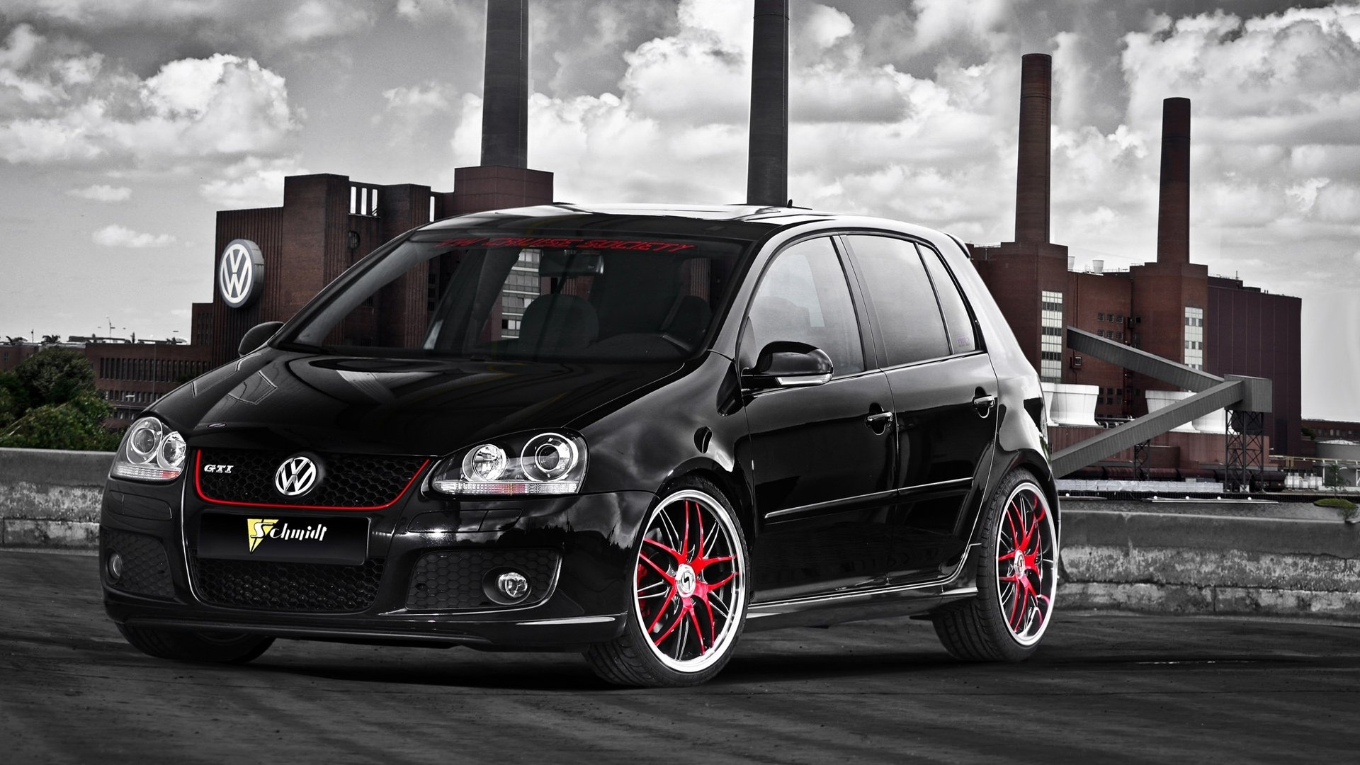 volkswagen golf gti hd background