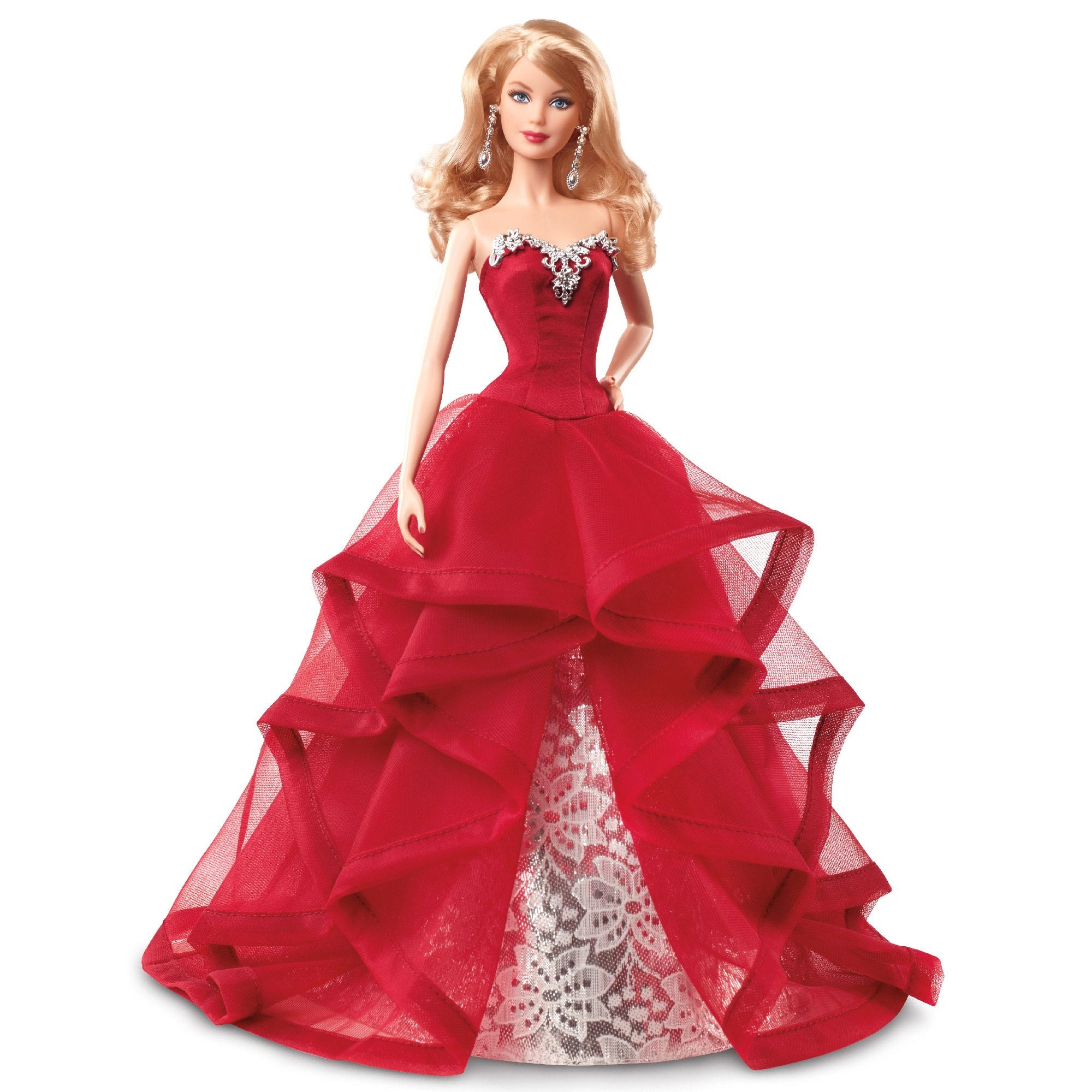 barbie holiday red doll image