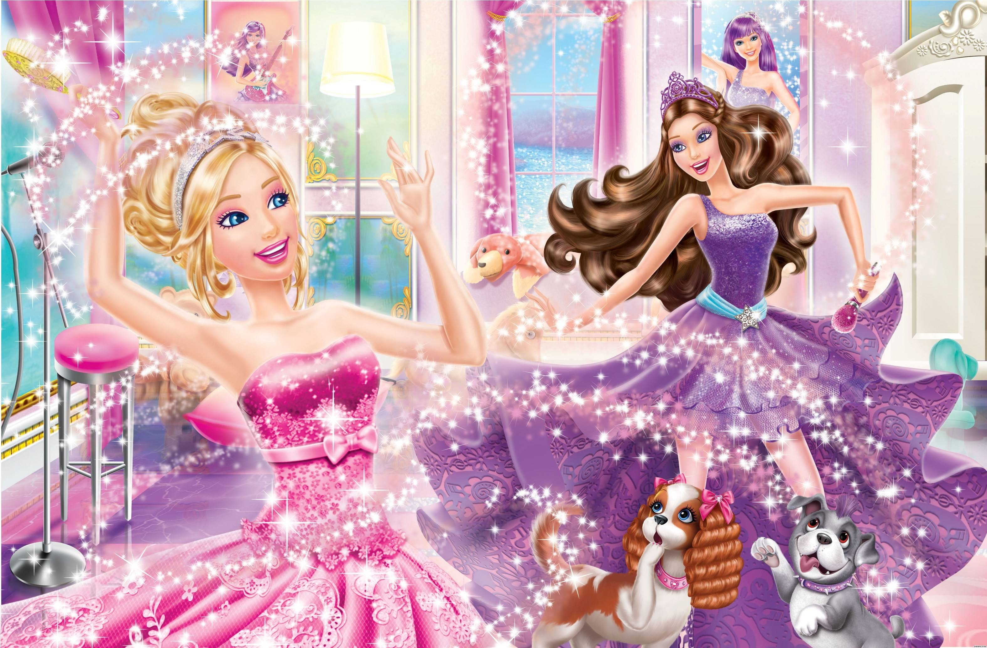 barbie the princess and the popstar hd background