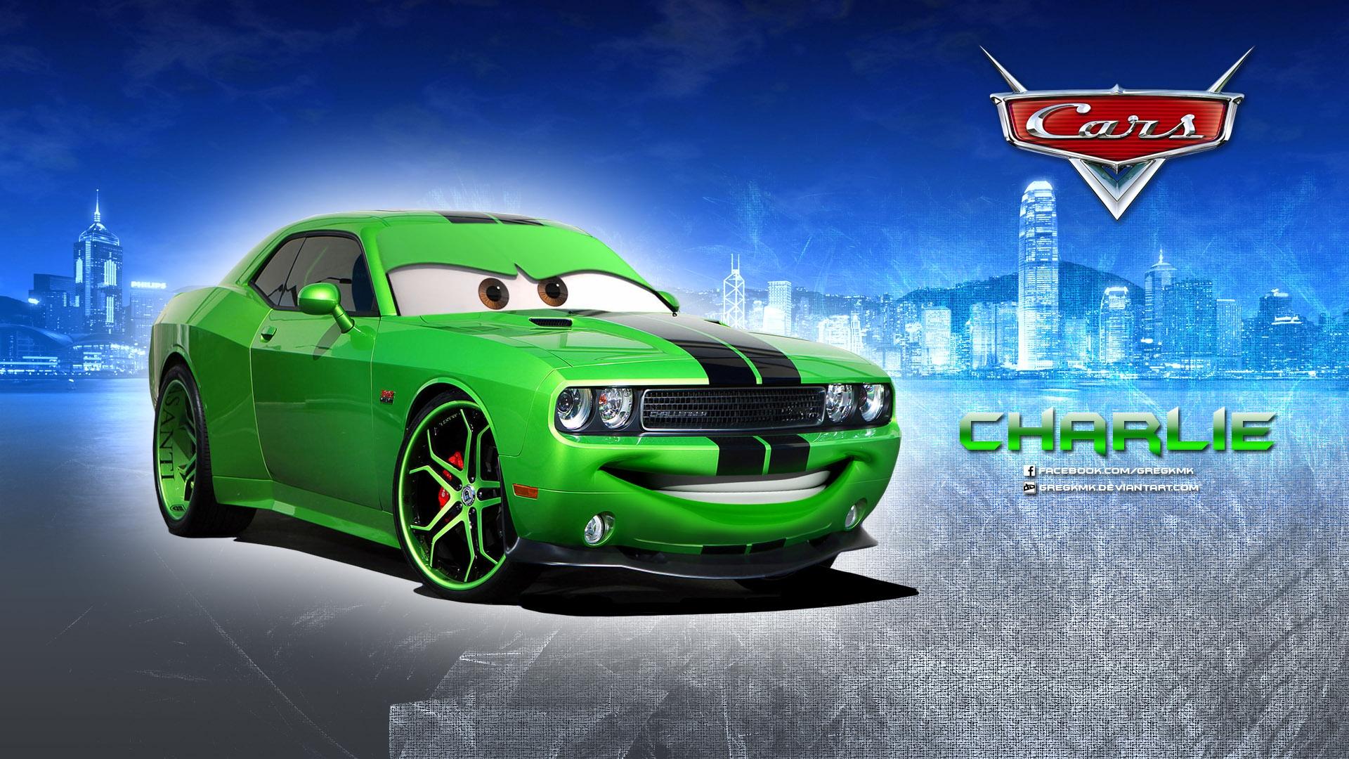 charlie dodge challenger disney pixar cars 1 2 free hd wallpaper
