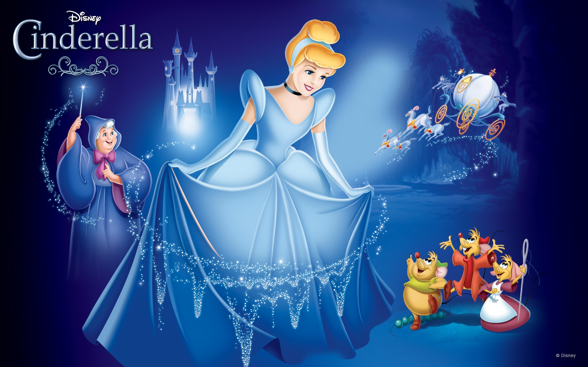 disney cinderella princess free hd wallpaper