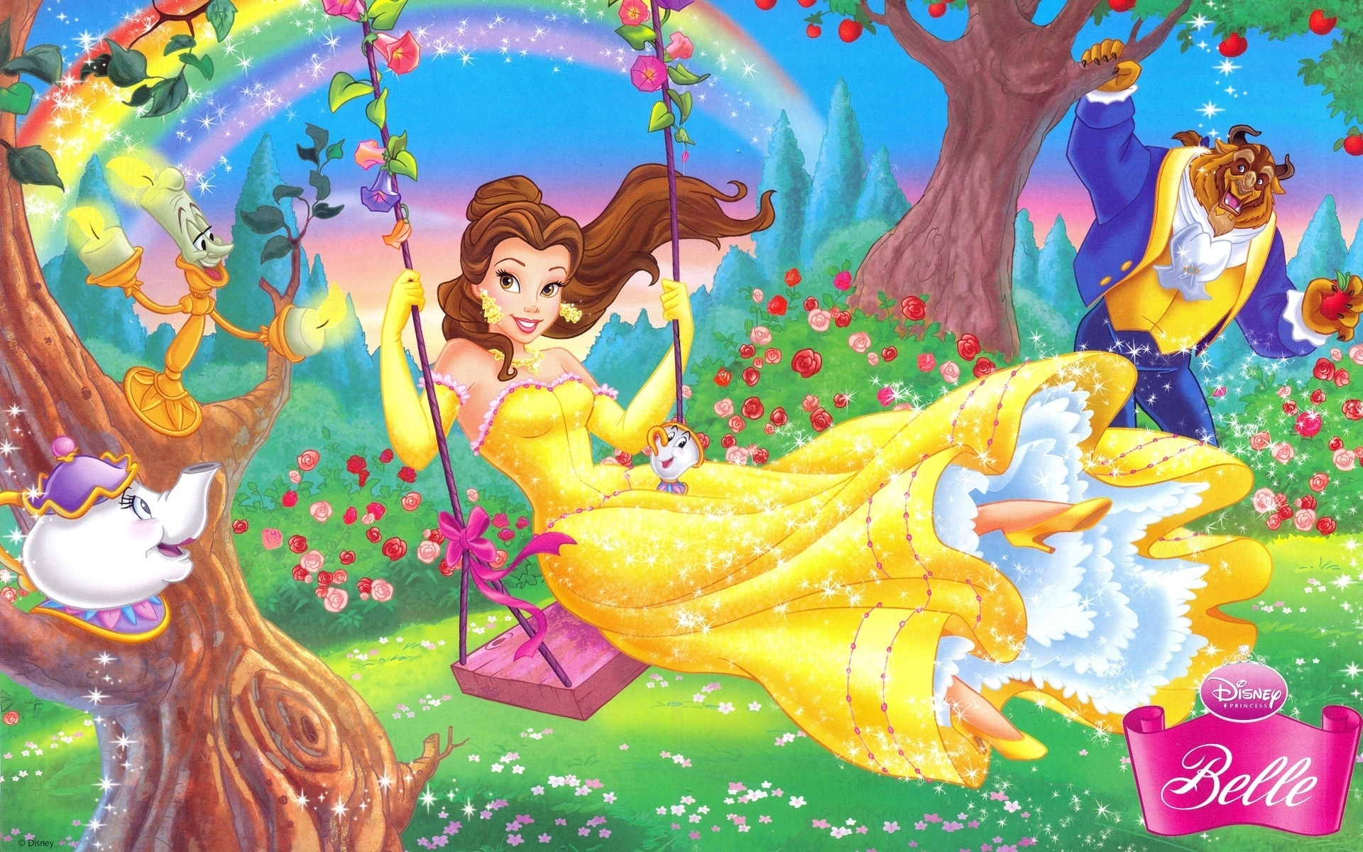 Disney Princess Belle Hd Wallpaper Free Download