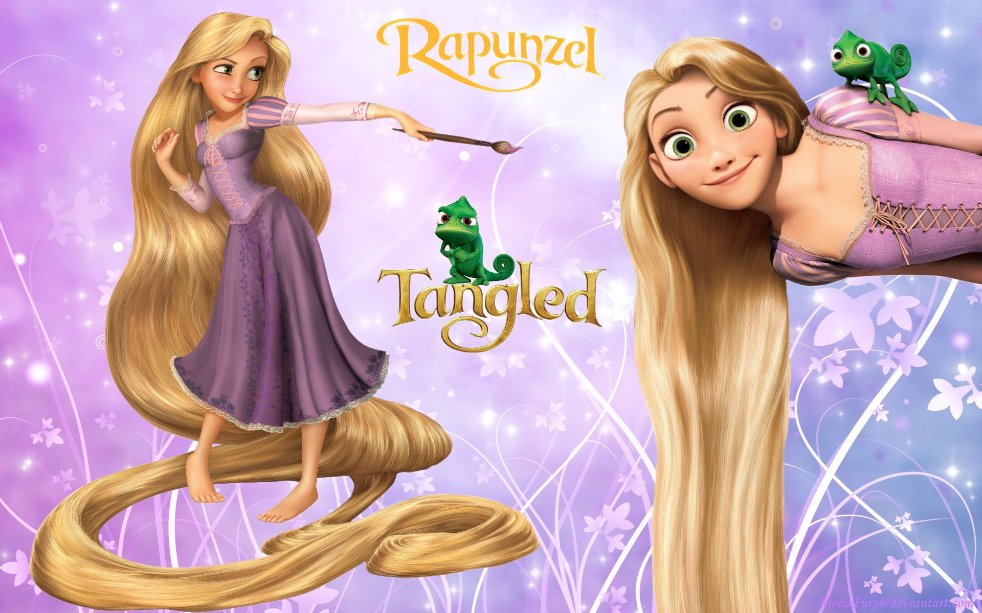 Disney Princess Rapunzel Tangled Free Hd Wallpaper 1920 1200