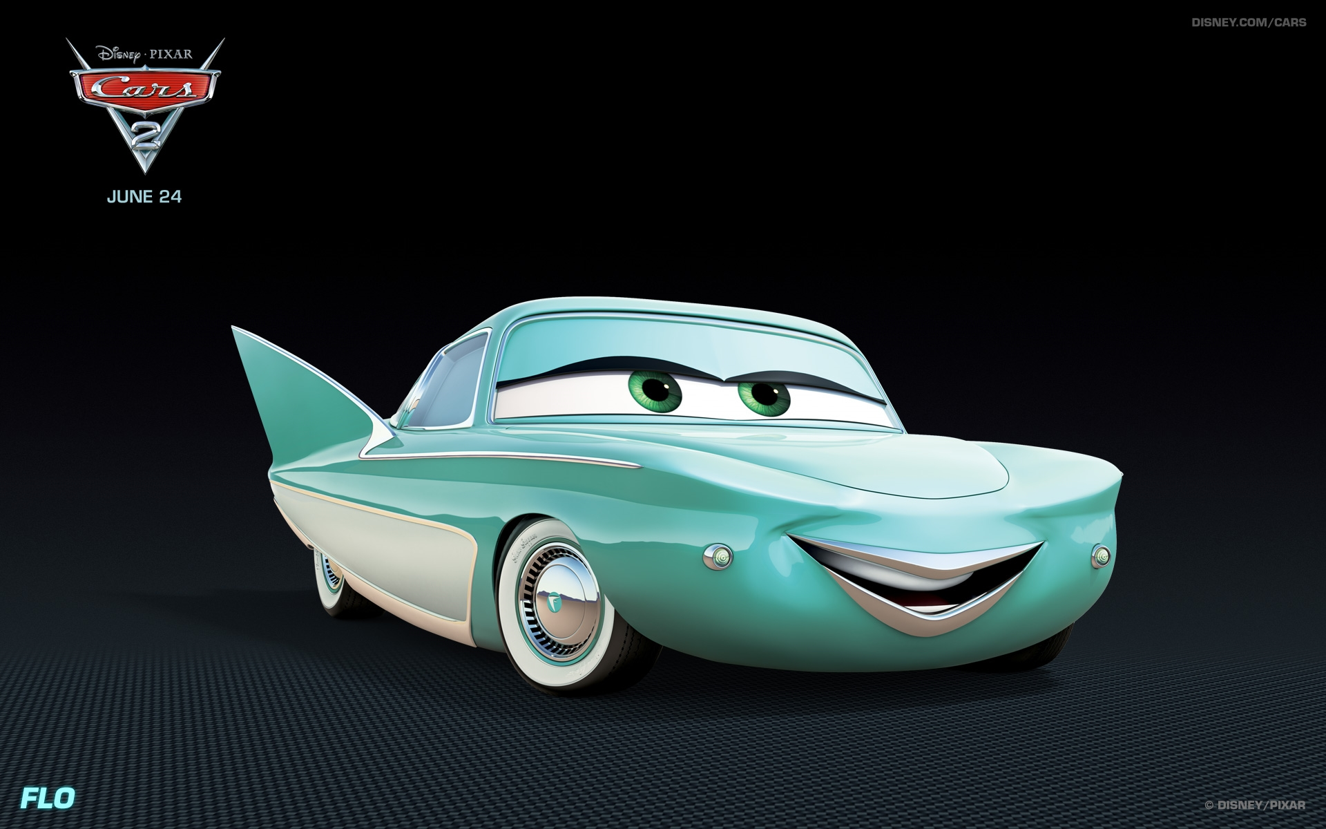 flo disney cars 2 wallpaper
