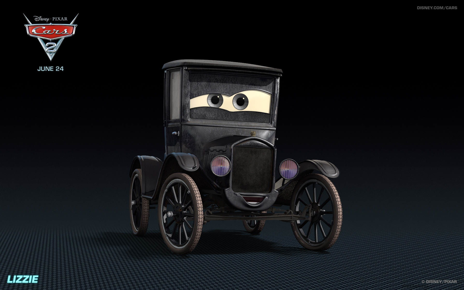 lizzie disney pixar cars 2 free hd wallpaper