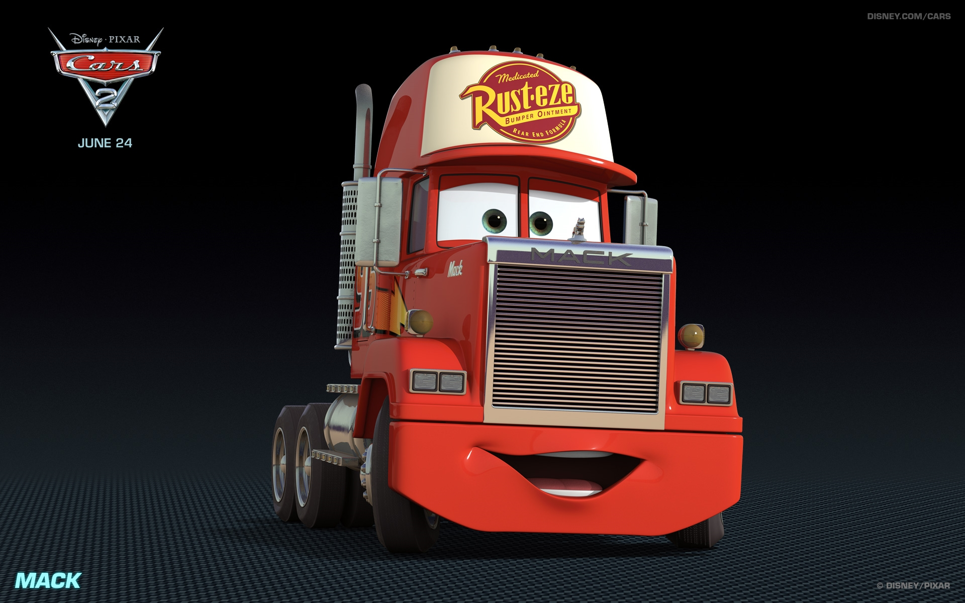 mack disney cars 2 free hd wallpaper