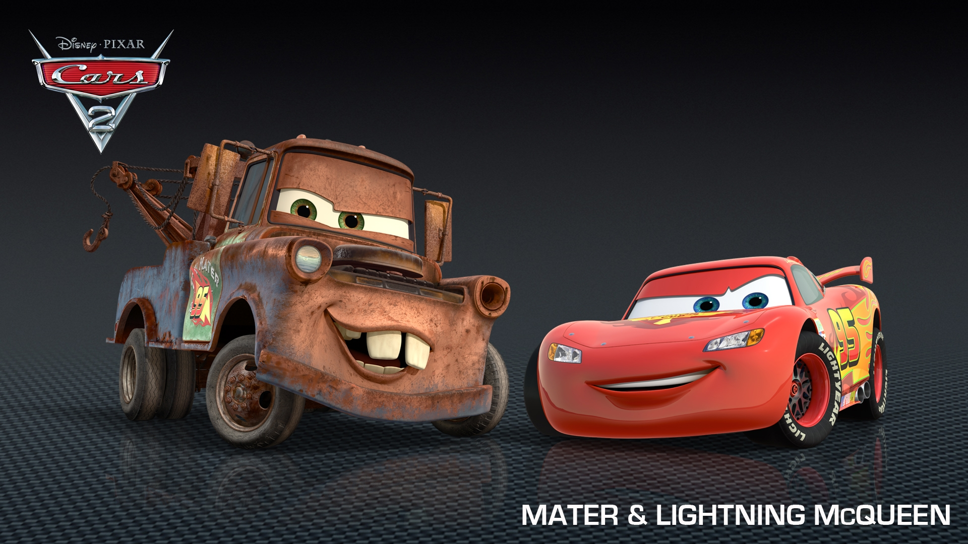 mater lightning mcqueen disney pixar cars 2 free hd wallpaper