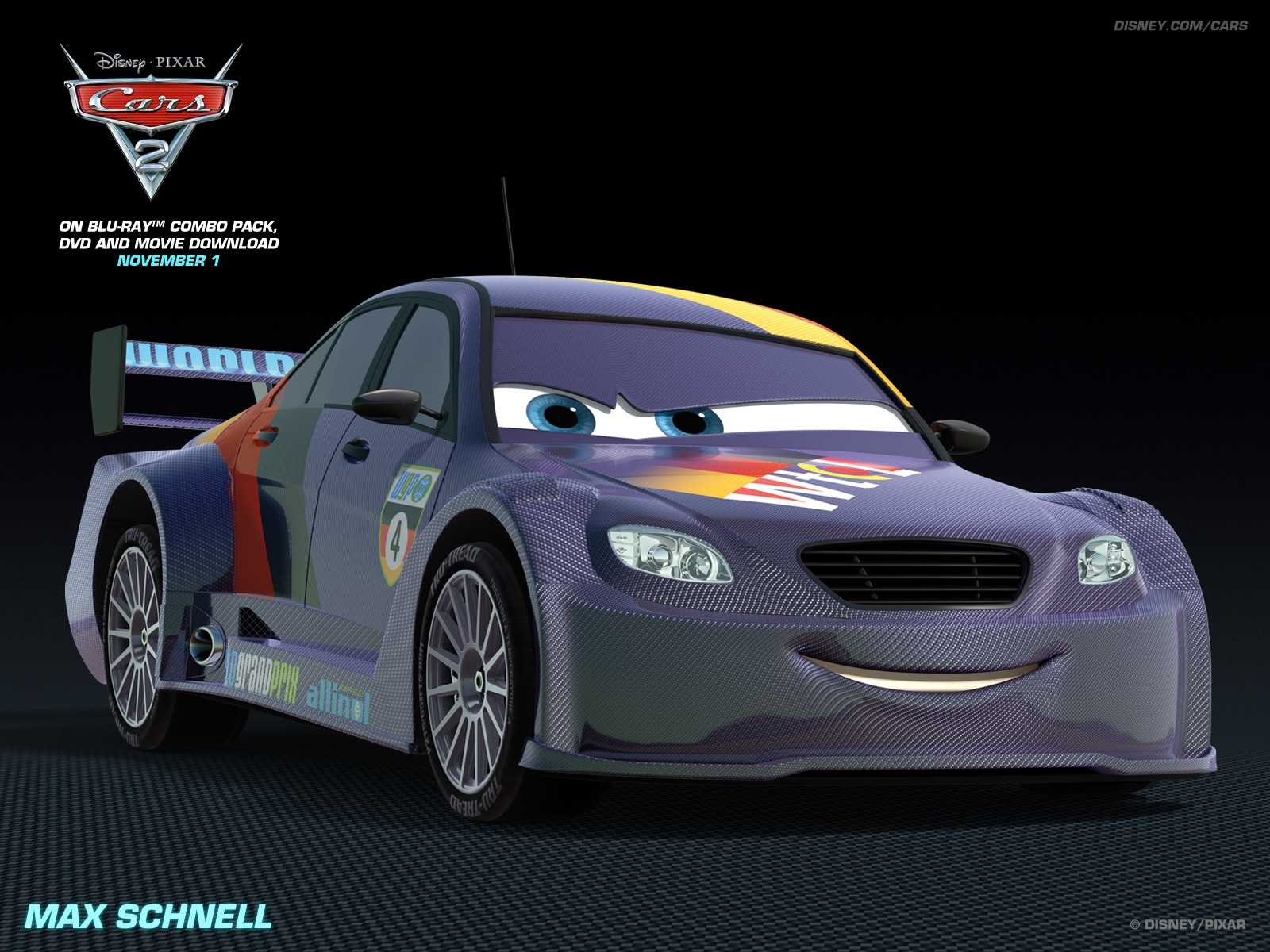 Disney Cars Wallpapers Free Download: Max Schnell Disney Pixar Cars 2 Free Hd Wallpaper 1600 1200