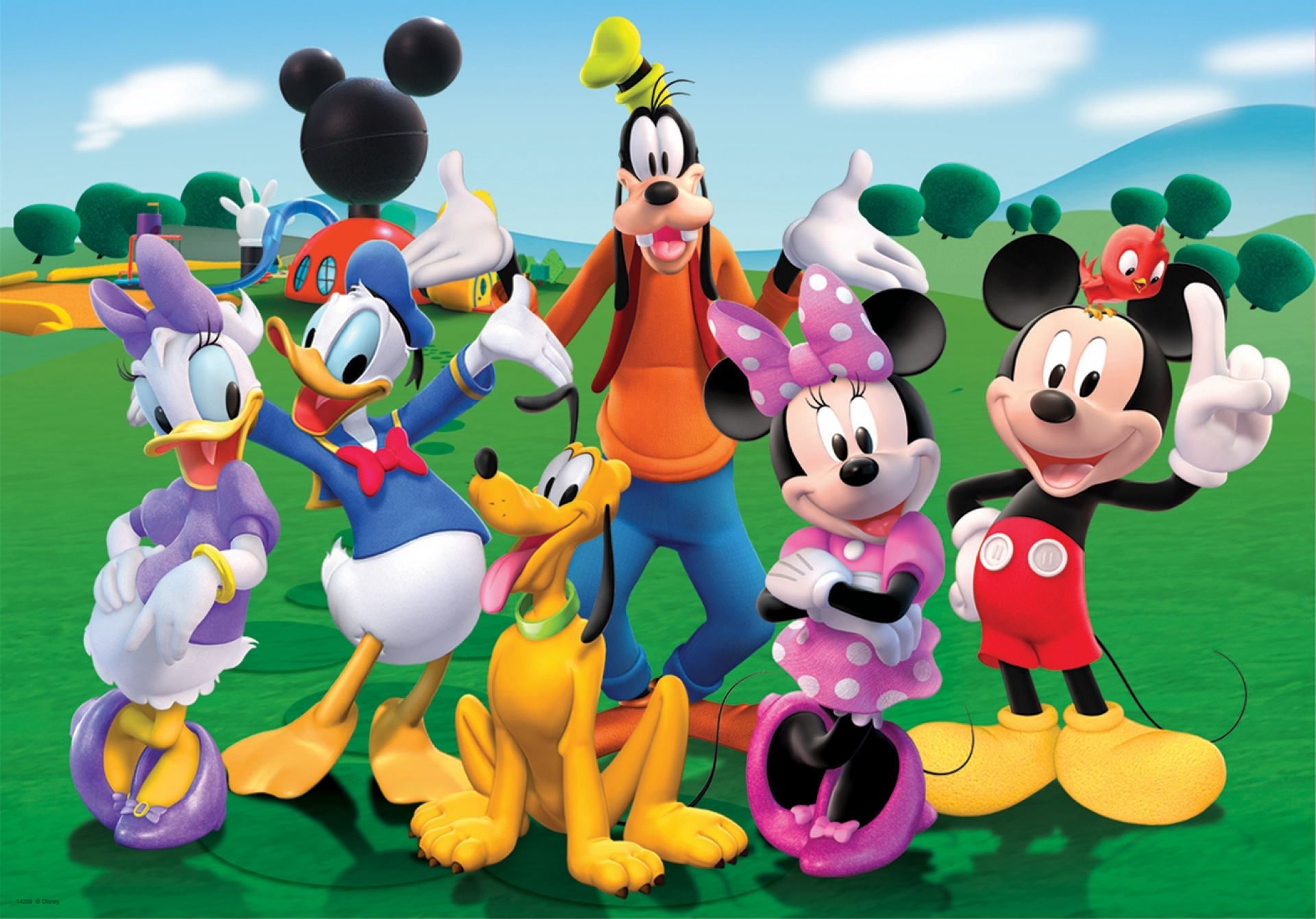 mickey mouse donald duck daisy walt disney free hd wall paper