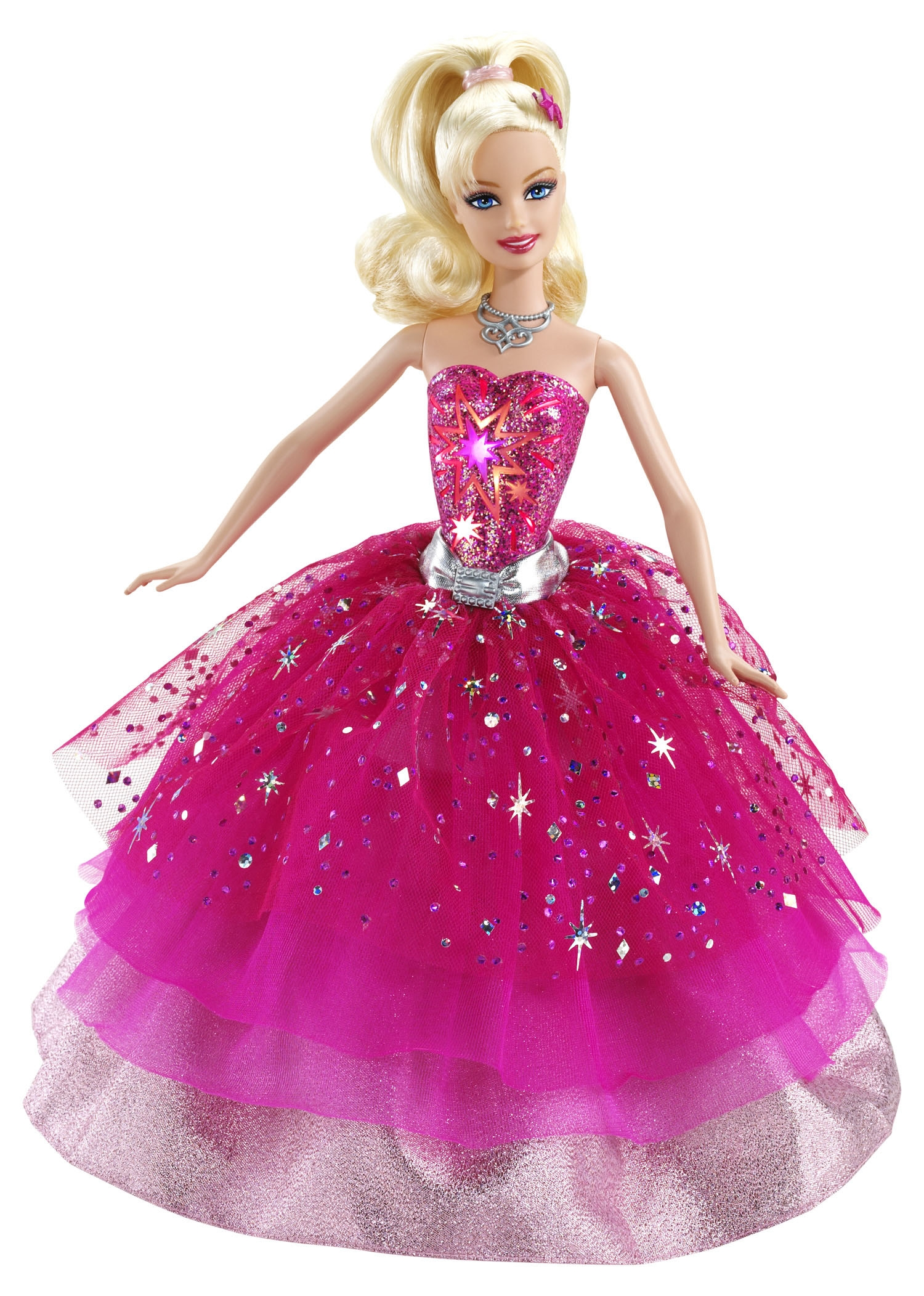modern pink barbie doll