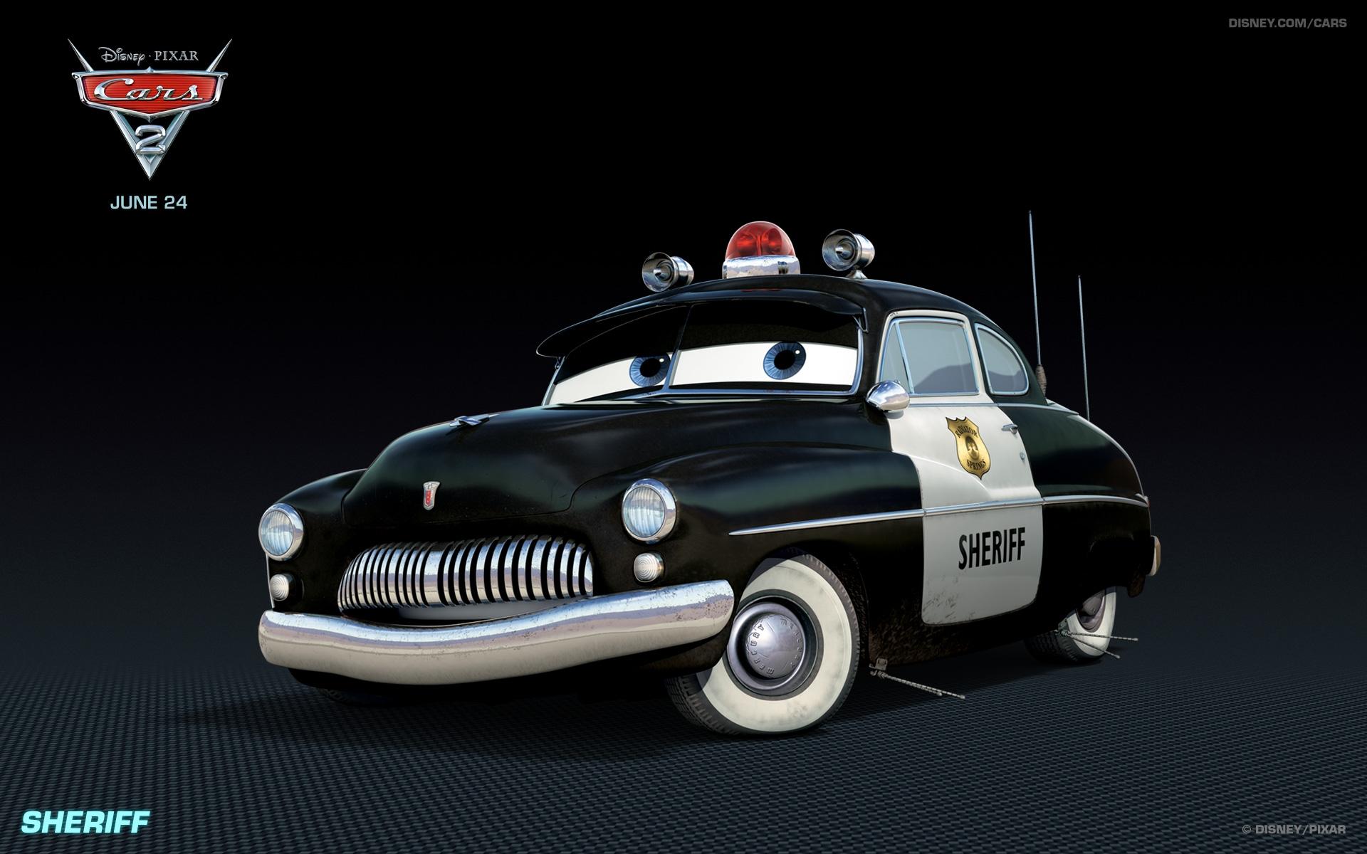 sheriff disney pixar cars 2 free hd wallpaper