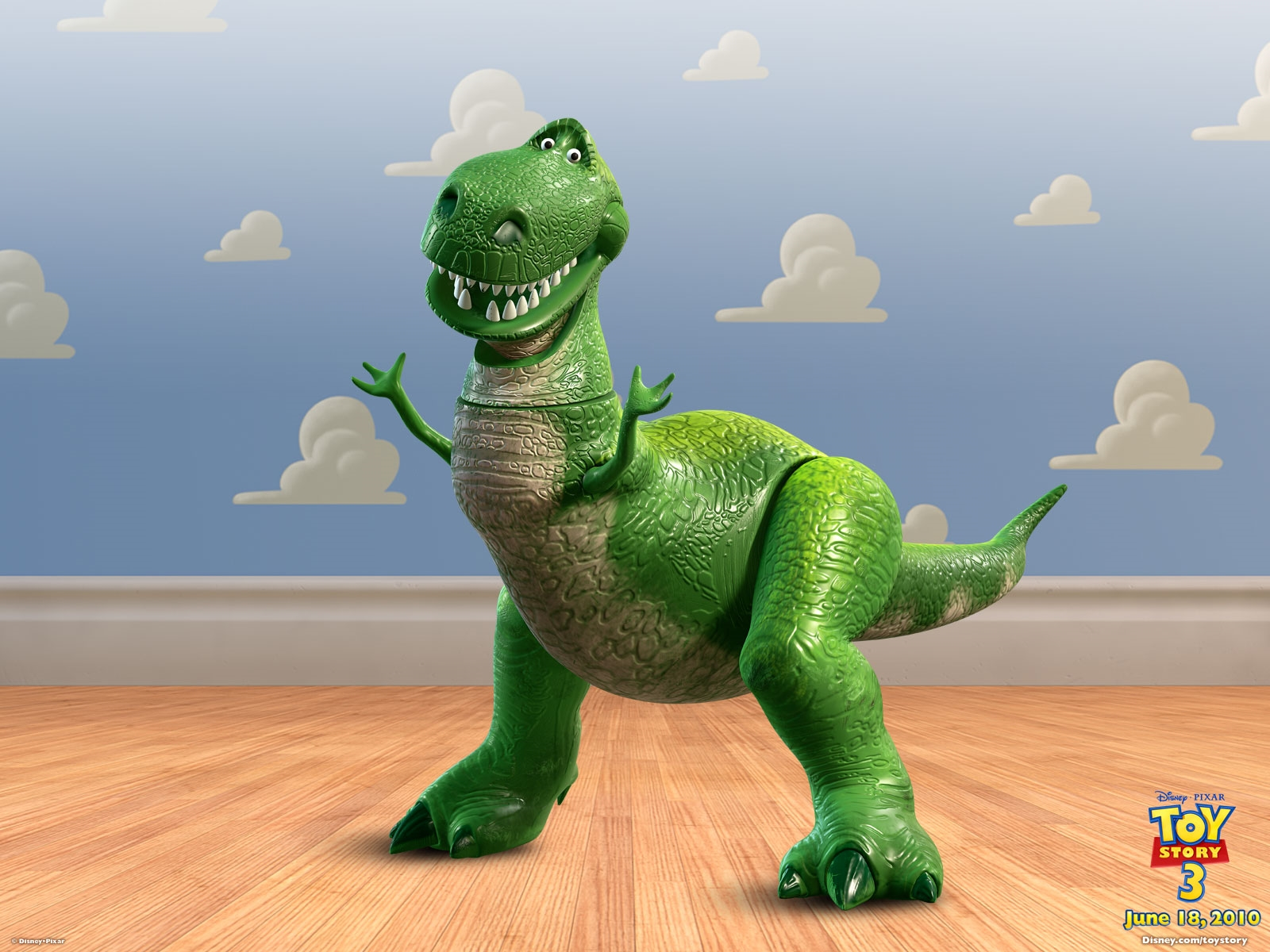 toystory 1 2 3 dino hd free wallpaper desktop background