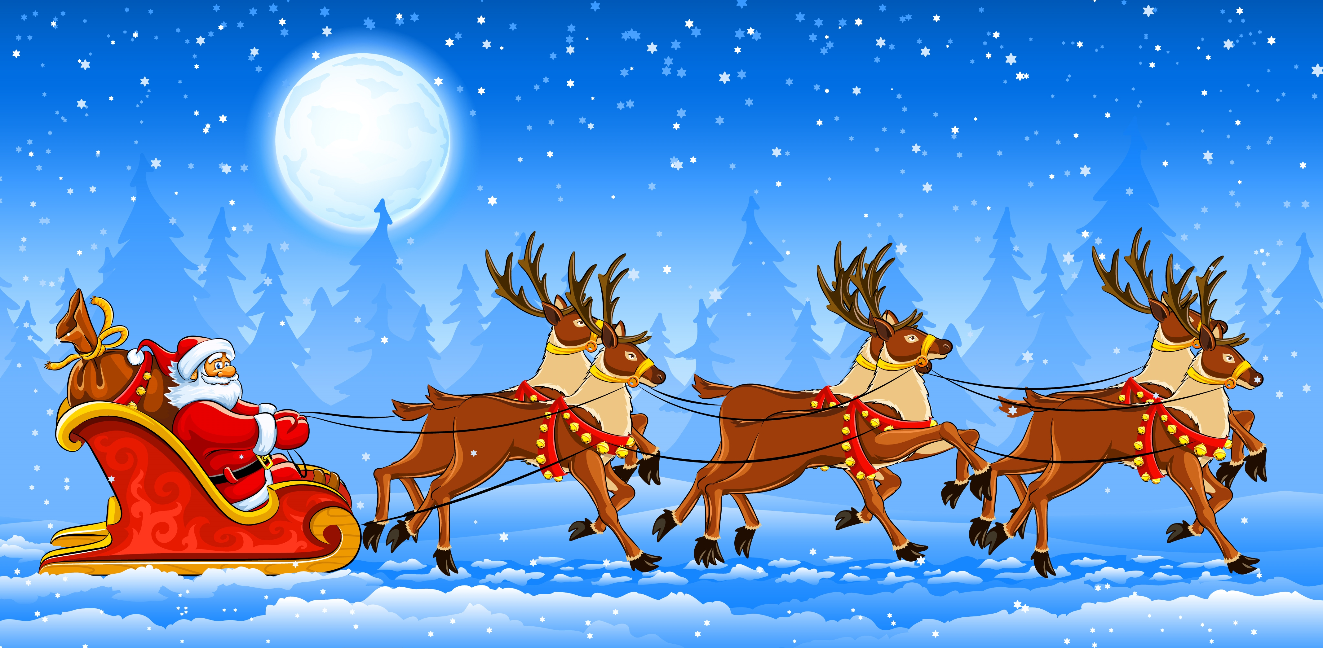 Title :Free Wallpaper Vector Santa Claus Christmas