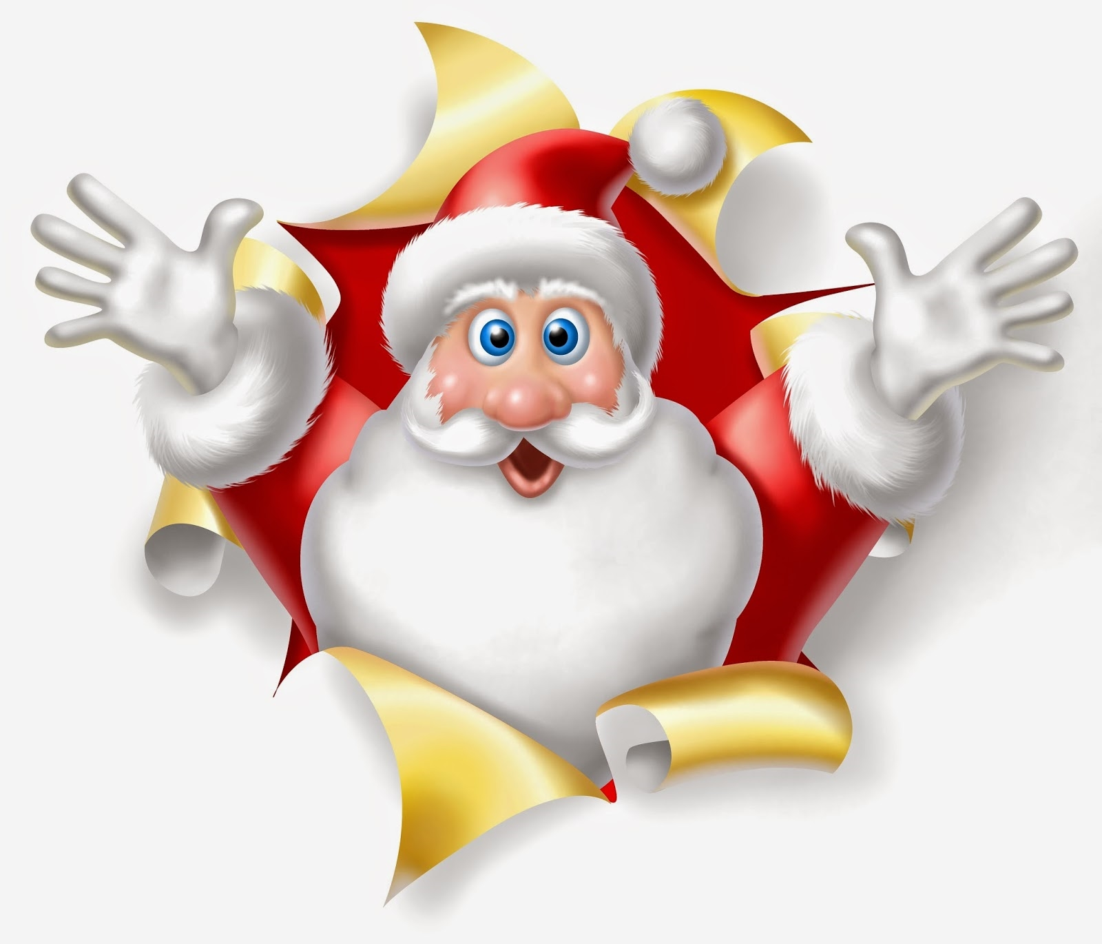 funny santa cartoon wallpaper free