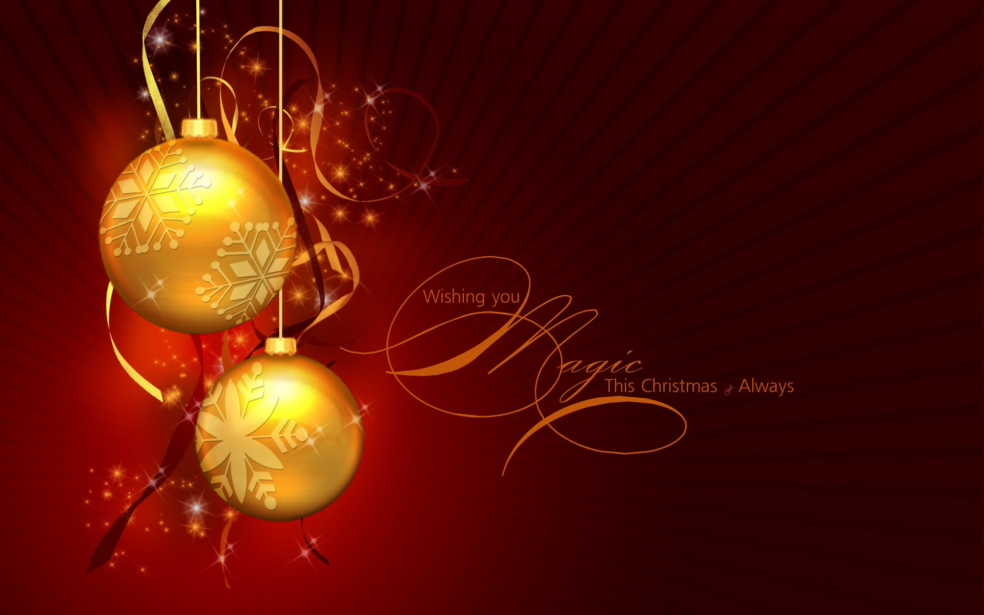 happy christmas wishes golden balls latest hd wallpaper