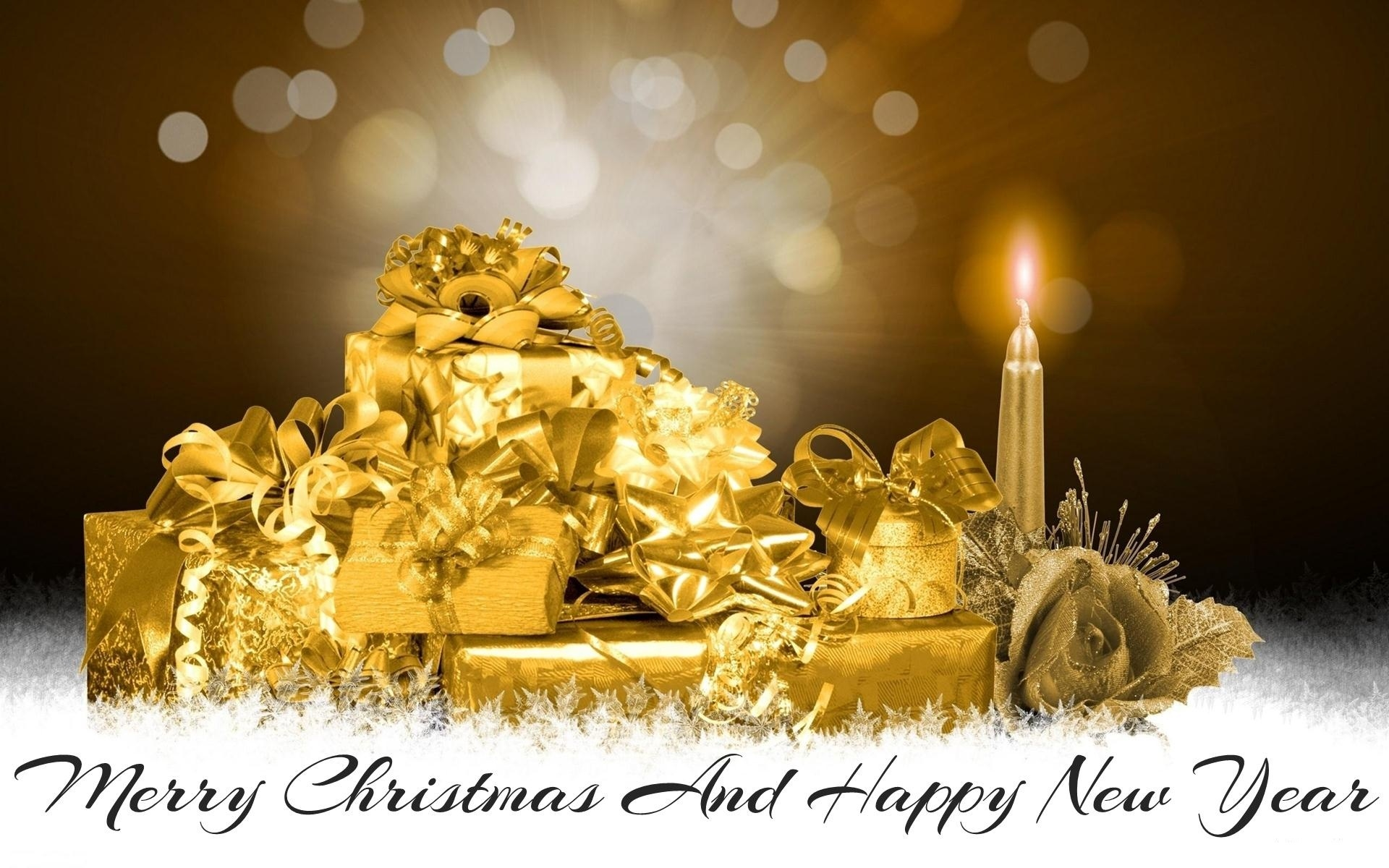 happy merry christmas new year wallpapers