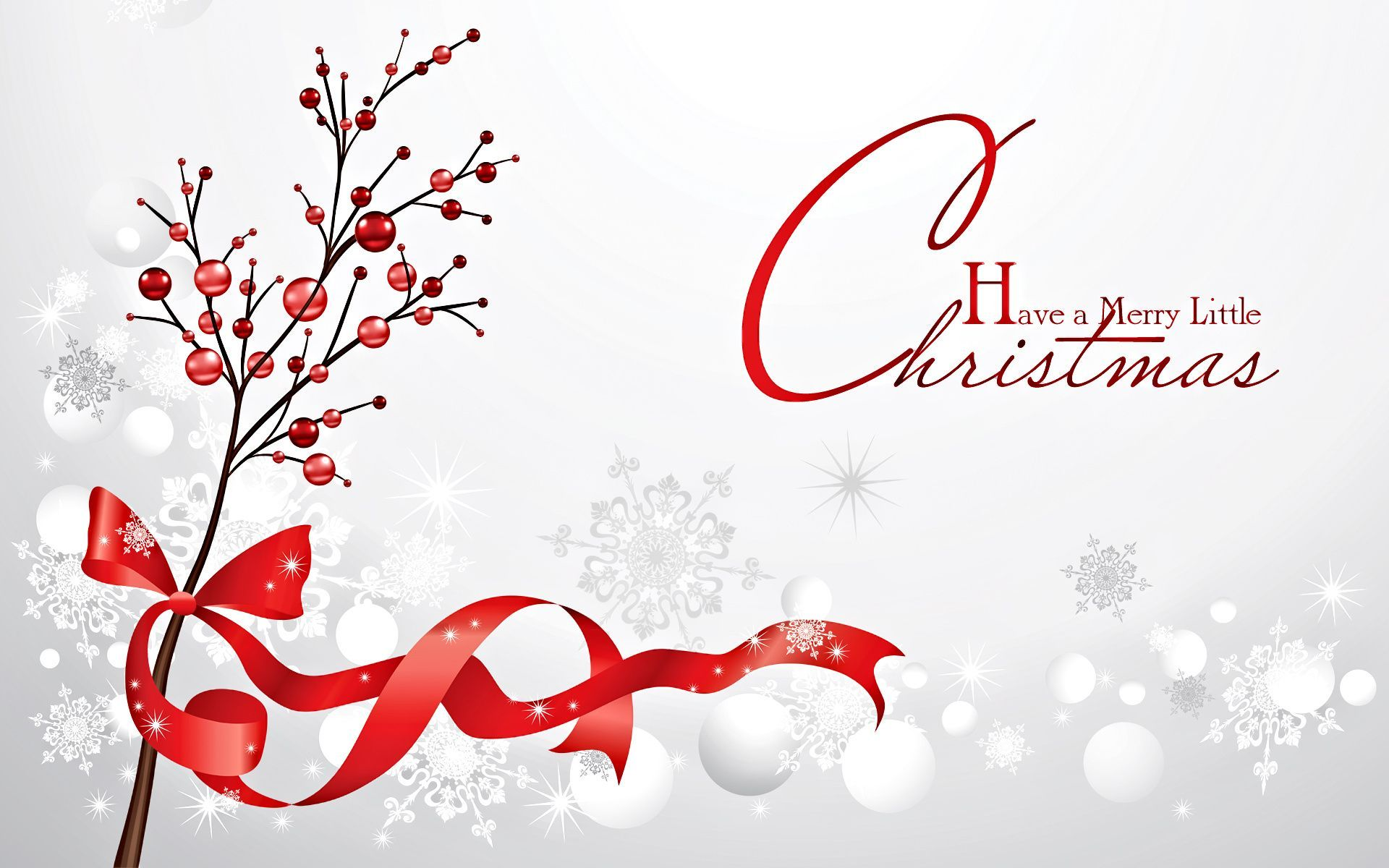 happy merry christmas red balls cute hd wallpaper