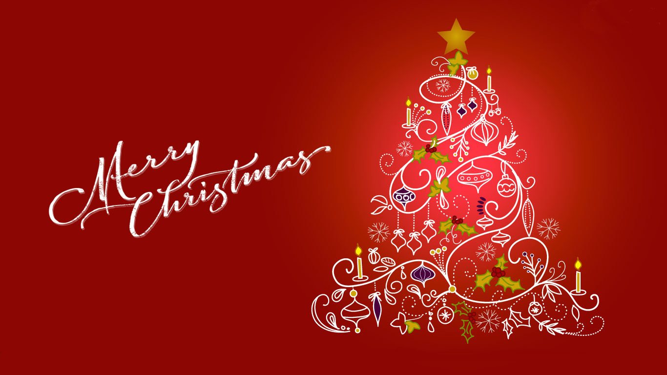 happy merry christmas tree clip art greetings hd wallpaper