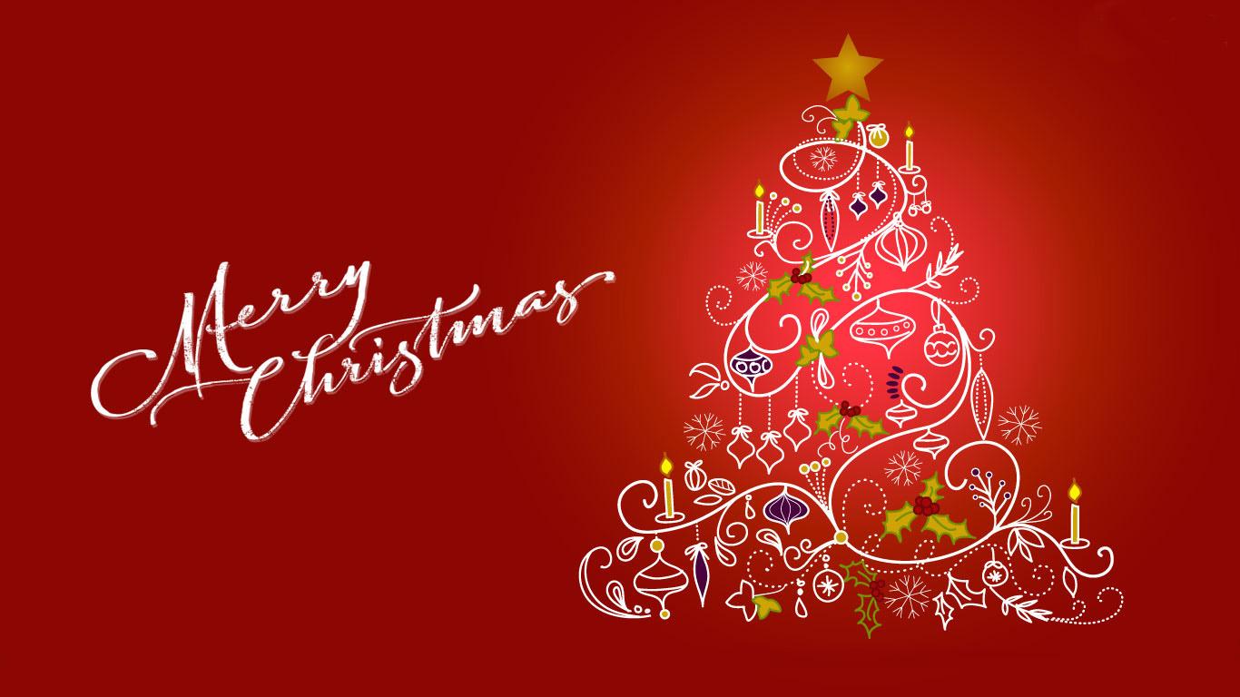 Happy Merry Christmas Tree Clip Art Greetings Hd Wallpaper