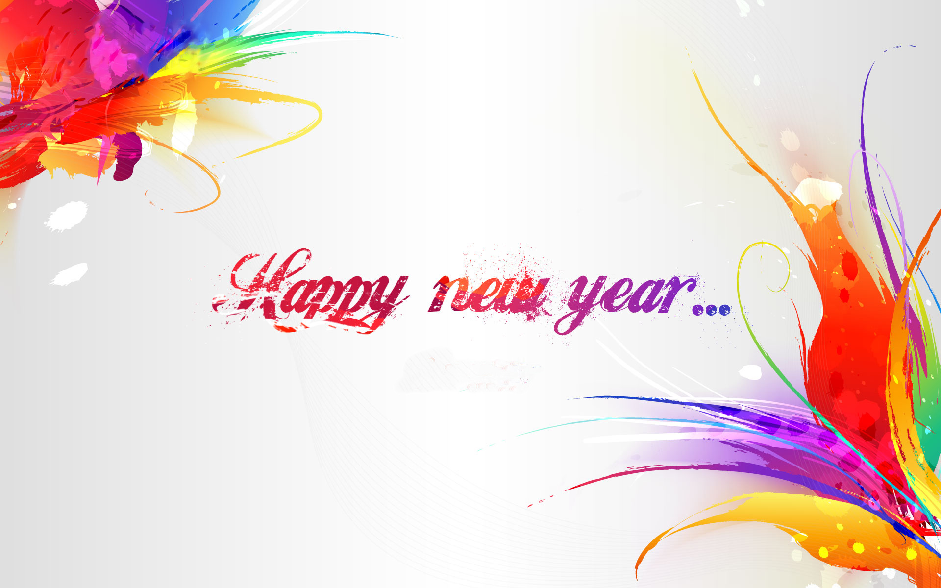 happy new year colorful hd wallpaper