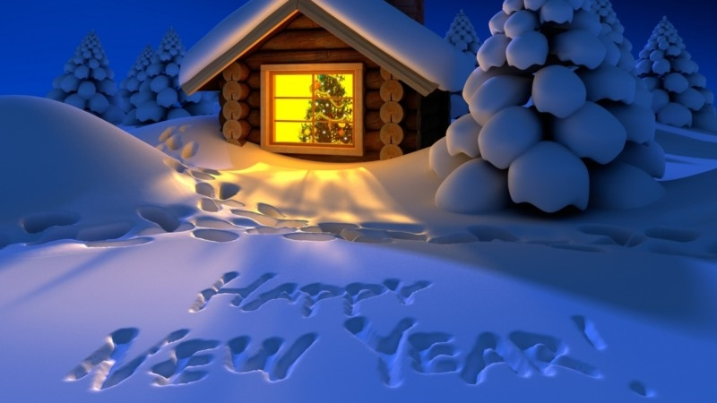 happy new year free snow wallpaper