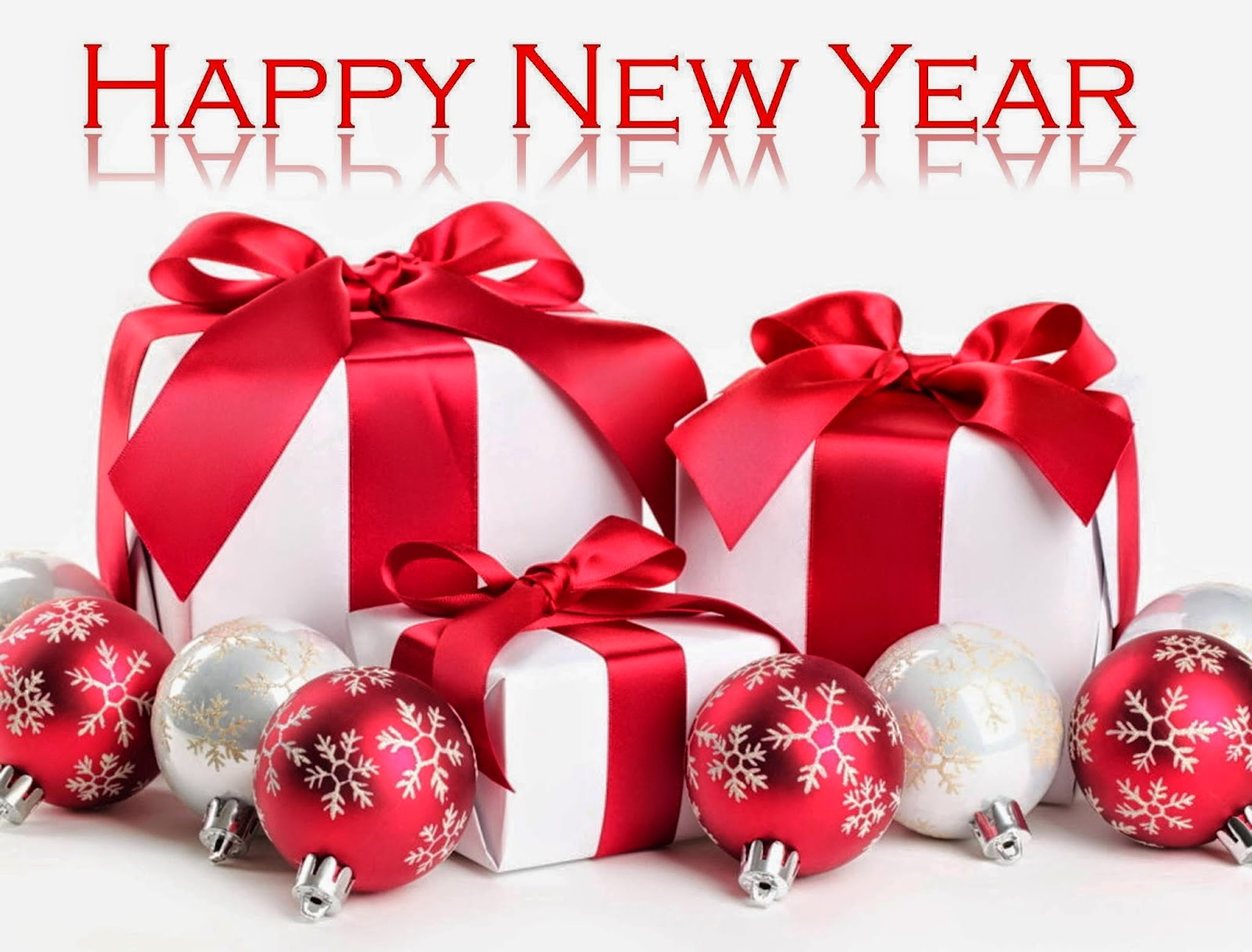 happy new year gifts balls greetings hd wallpaper